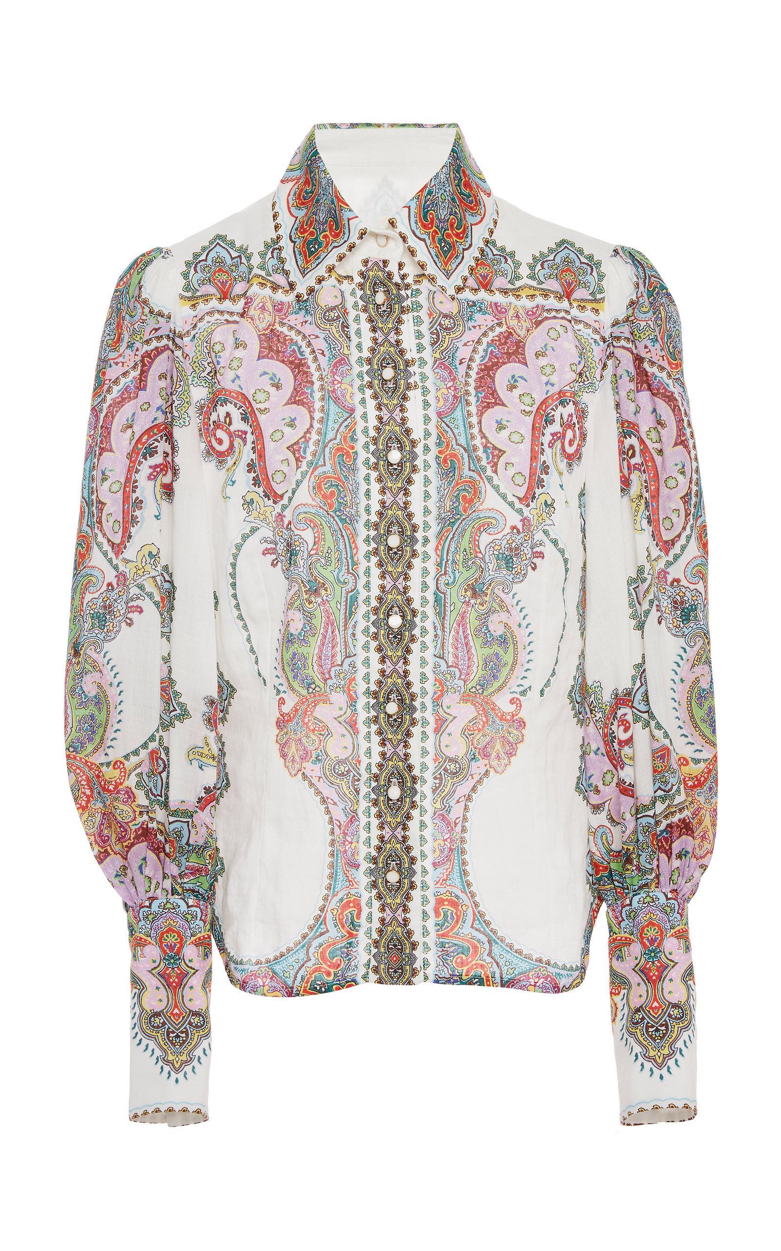 9425ce7488 Zimmermann Ninety-six Filigree Chiffon Shirt - Lyst