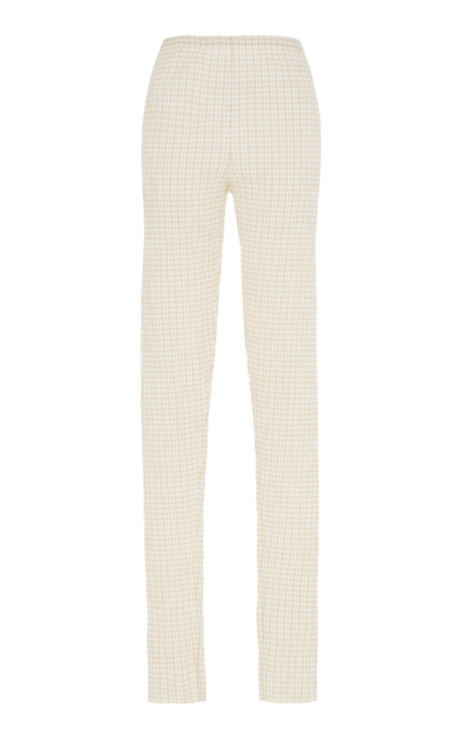Deals Cheap Price Cotton Wool Check Legging Jil Sander Purchase Sale Online Best Place To Buy Clearance Deals 100% Guaranteed For Sale xvwd3q8J