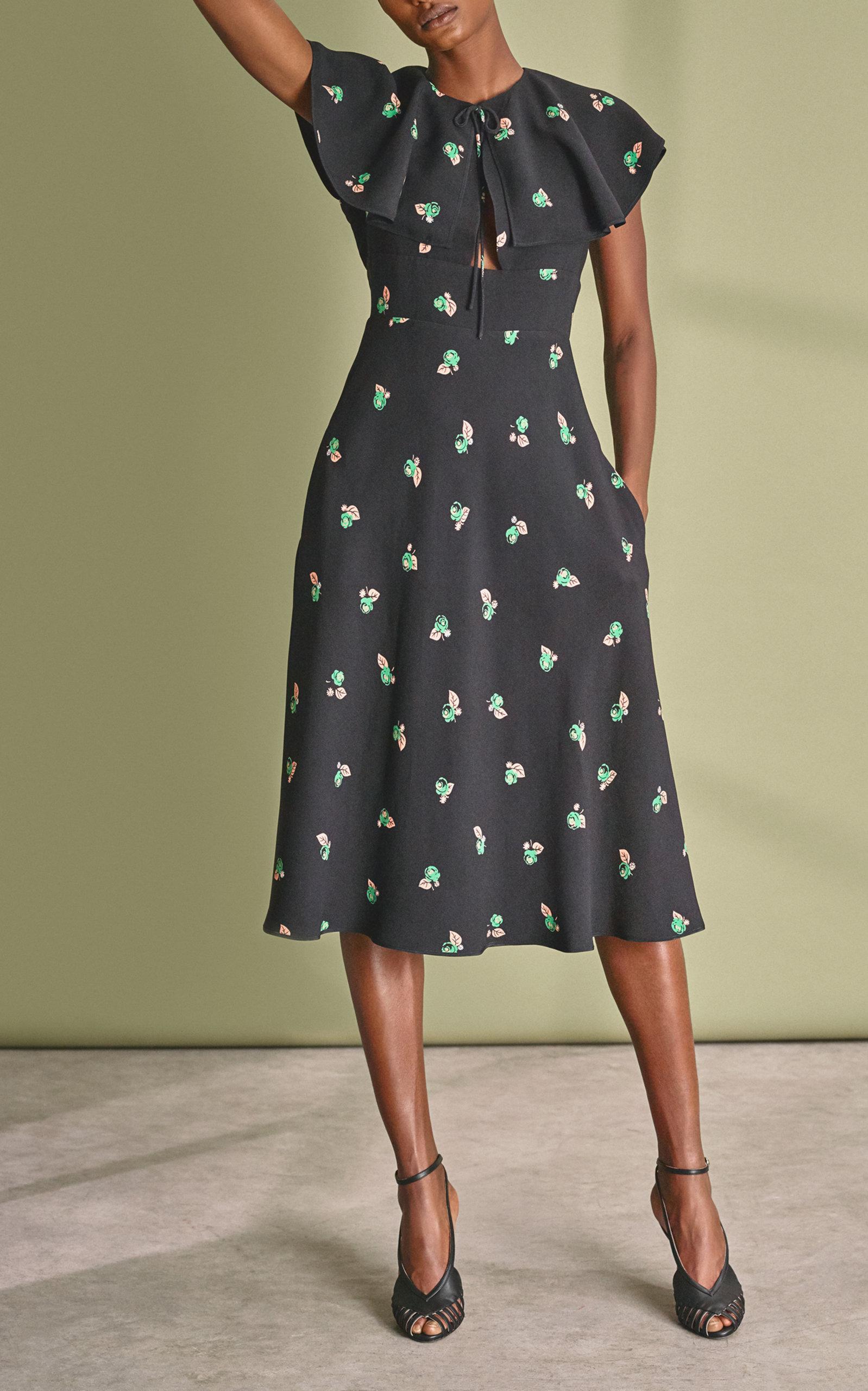 Orma Ruffle Knee Length Dress Rochas P9cOrWLI