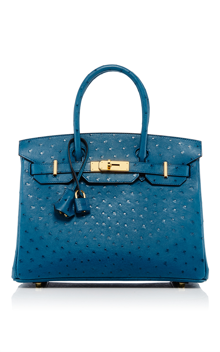 hermes leather goods - Heritage auctions special collection Hermes 30cm Cobalt Ostrich ...