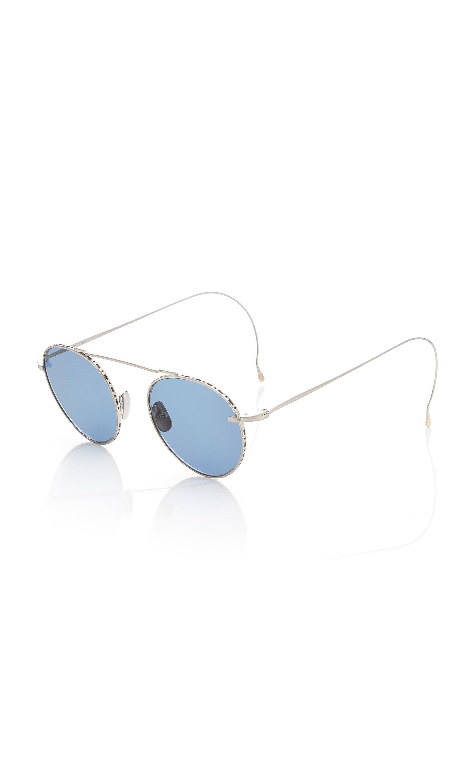 43106a84967 Mr. Leight Rei 49 Aviator-style Titanium Sunglasses in Blue - Lyst