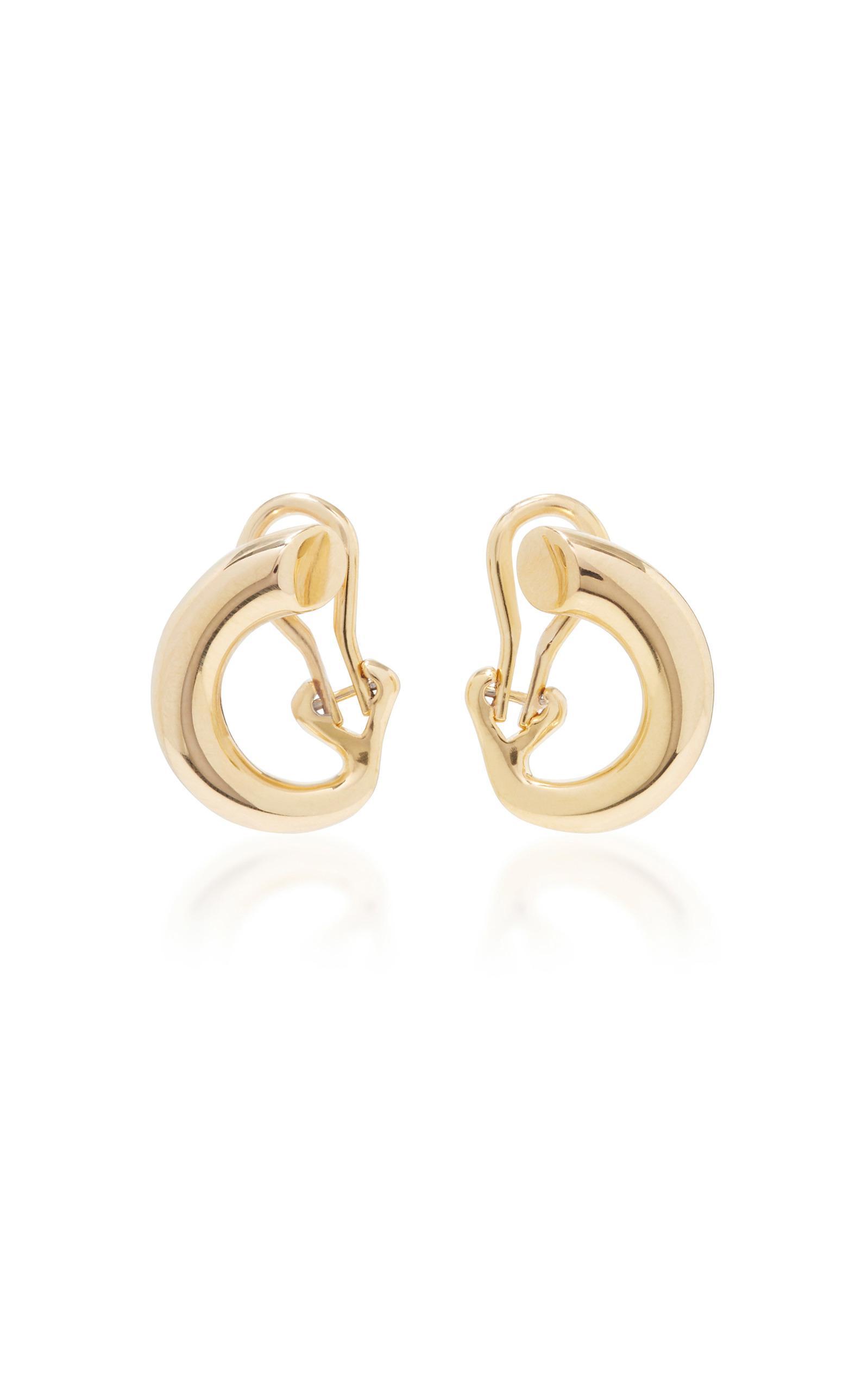 19c9006c8 Charlotte Chesnais Monie Small Gold-dipped Clip Earrings in Metallic ...