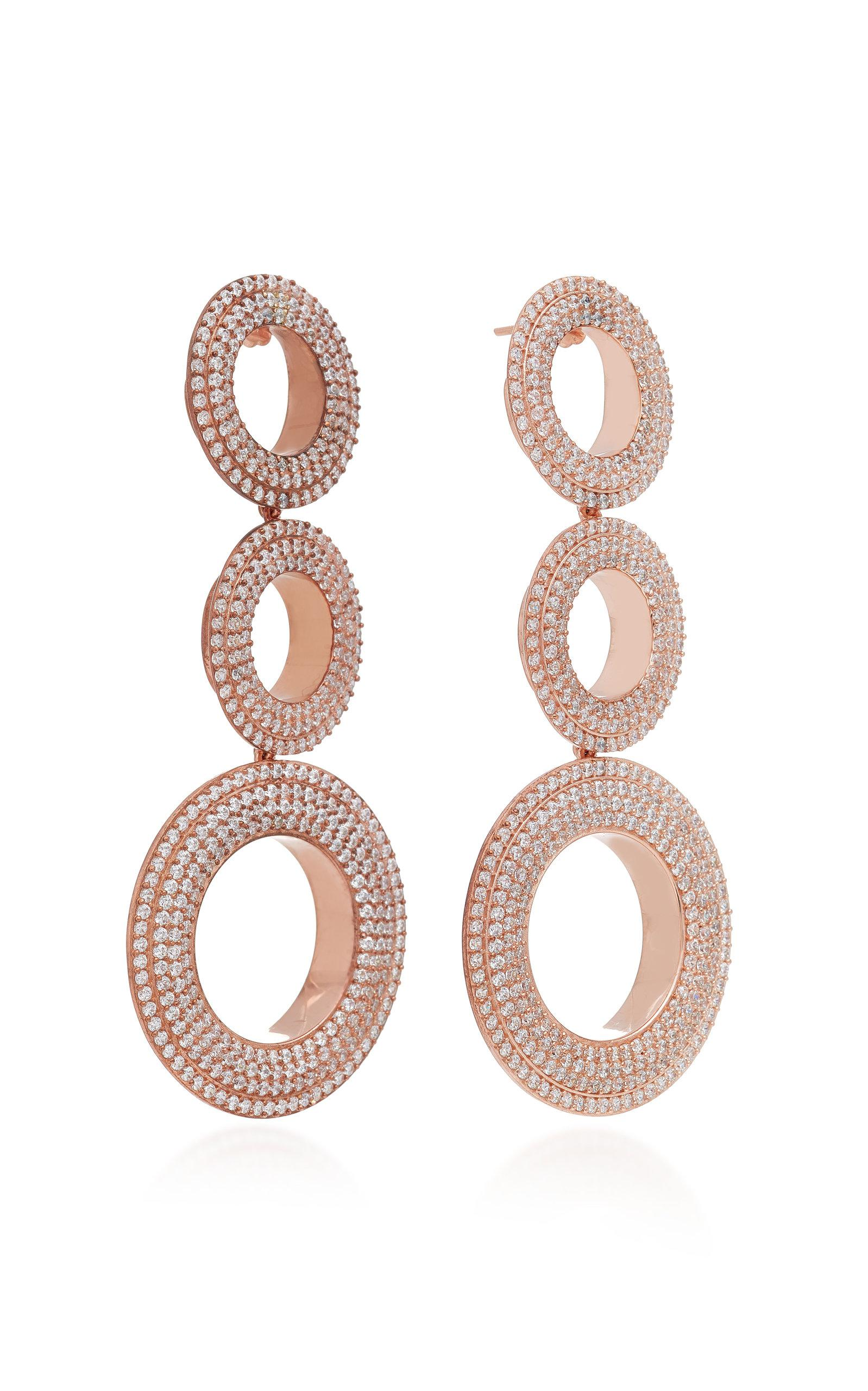 Grommet Gold-Plated Brass and Cubic Zirconia Statement Earrings Joanna Laura Constantine LanXe9r2t