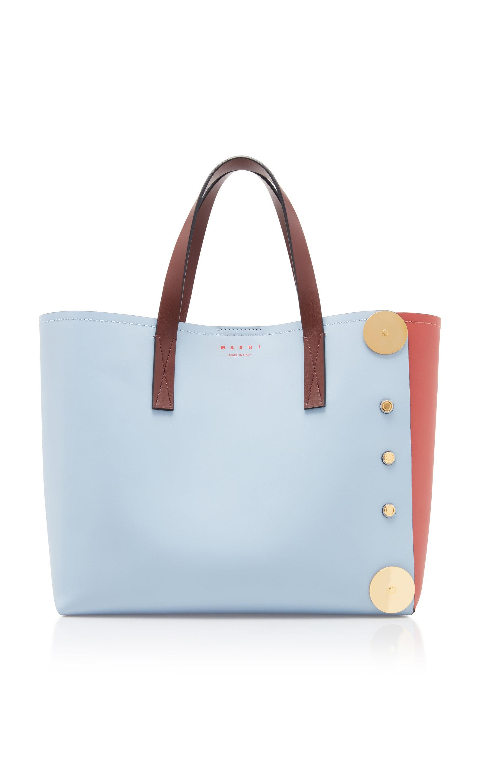 1133f92ec3d3 Marni Punch Museo Leather Tote in Blue - Lyst