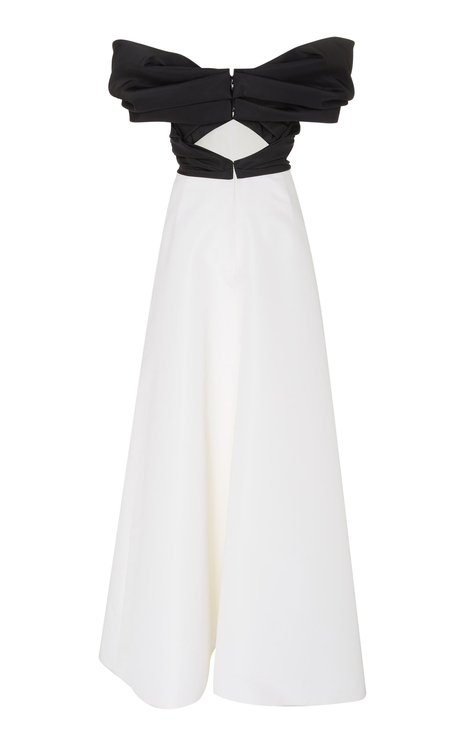 ee071c35c59b Carolina Herrera Off-the-shoulder Silk-faile Gown in White - Lyst