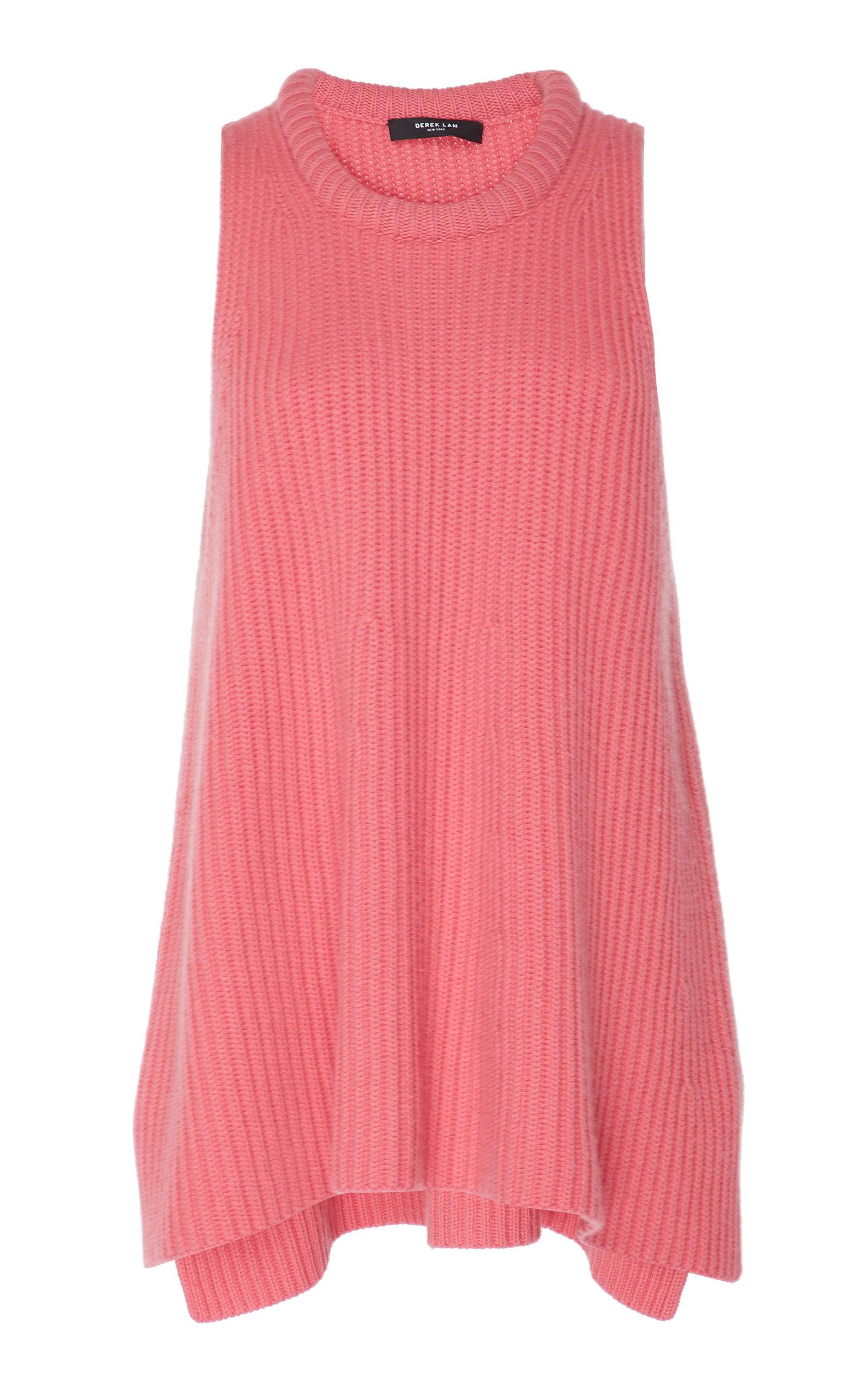 83117847a1030 Lyst - Derek Lam Rib Knit A-line Cashmere Tank Top in Pink