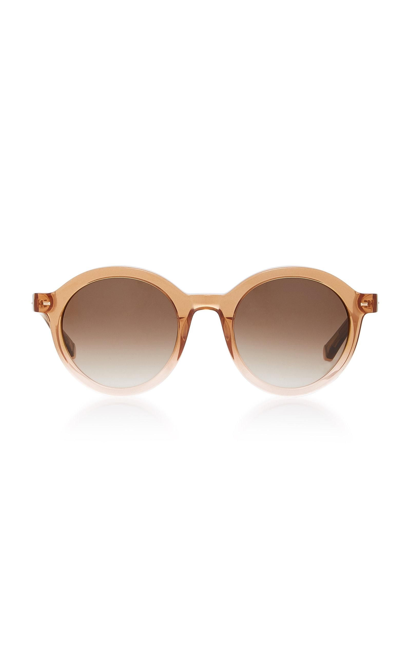 Flora Round-Frame Acetate And Metal Sunglasses Kate Young for Tura q9KGr