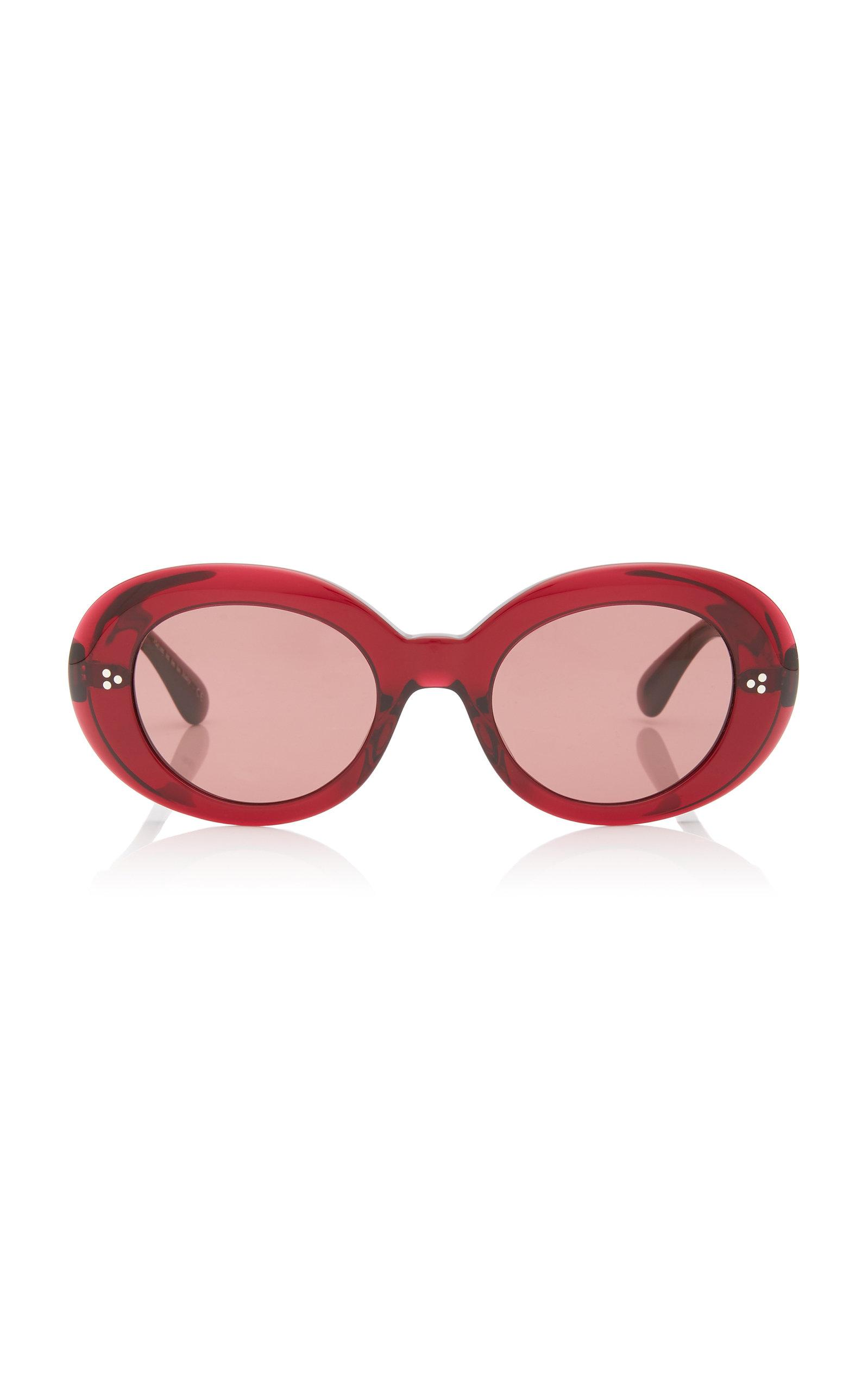 4e4c9d33021 Oliver Peoples. Women s Erissa Round-frame Acetate Sunglasses.  380 From Moda  Operandi