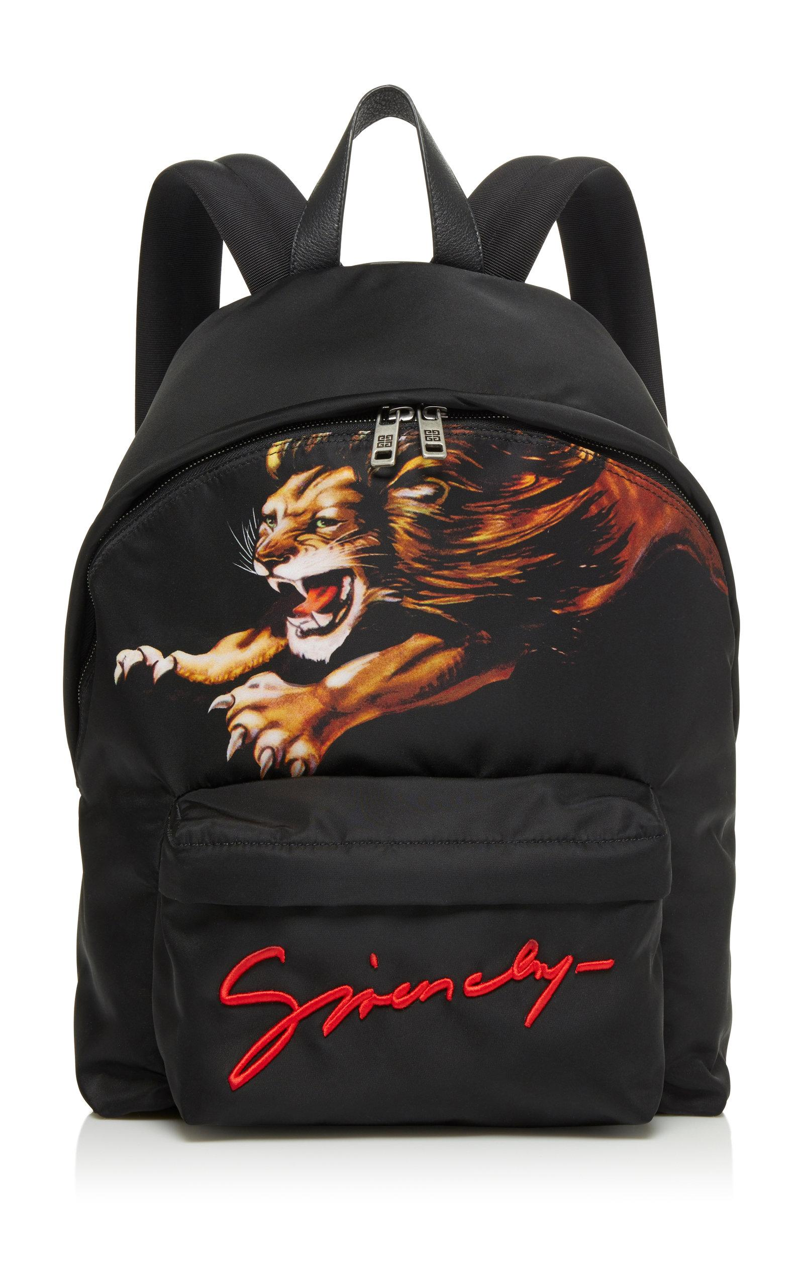 706cd2cc9e Lyst - Givenchy Printed Logo Shell Backpack in Black