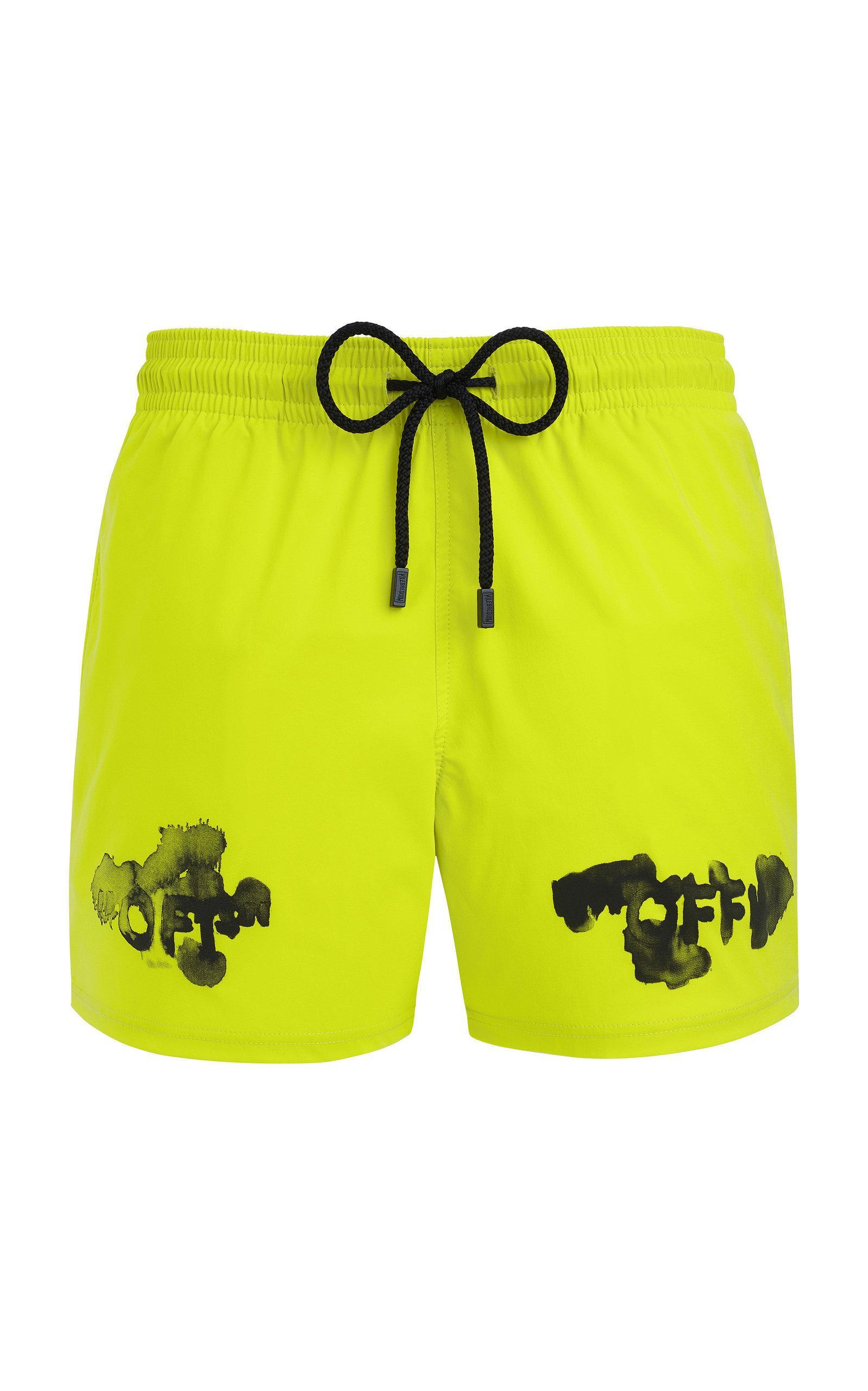 3fd565f84d Off-White c/o Virgil Abloh. Men's Yellow Vilebrequin Edition Moorise Swim  Shorts