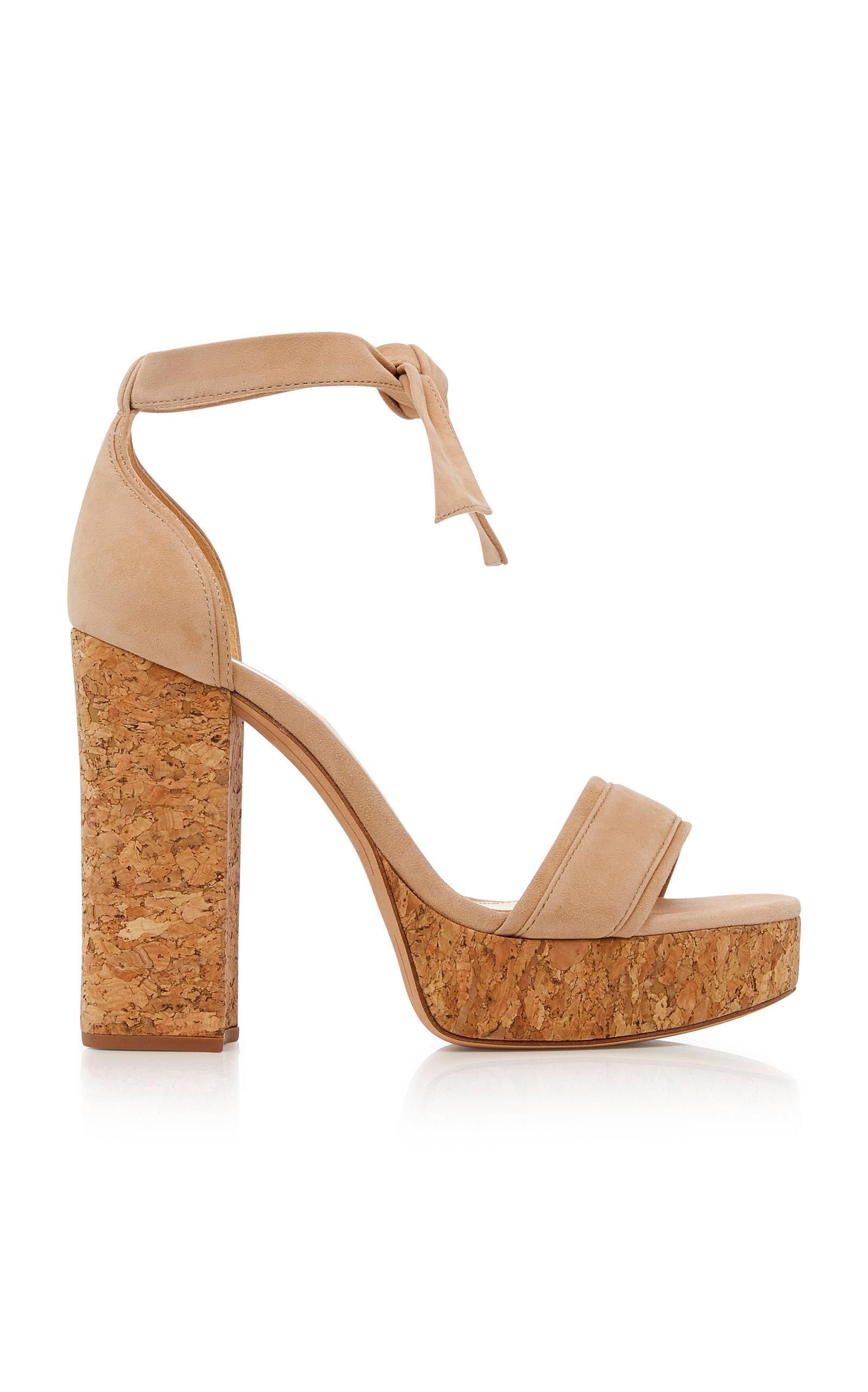 fce7b05b6c2 Lyst - Alexandre Birman Celine Platform Suede Sandals