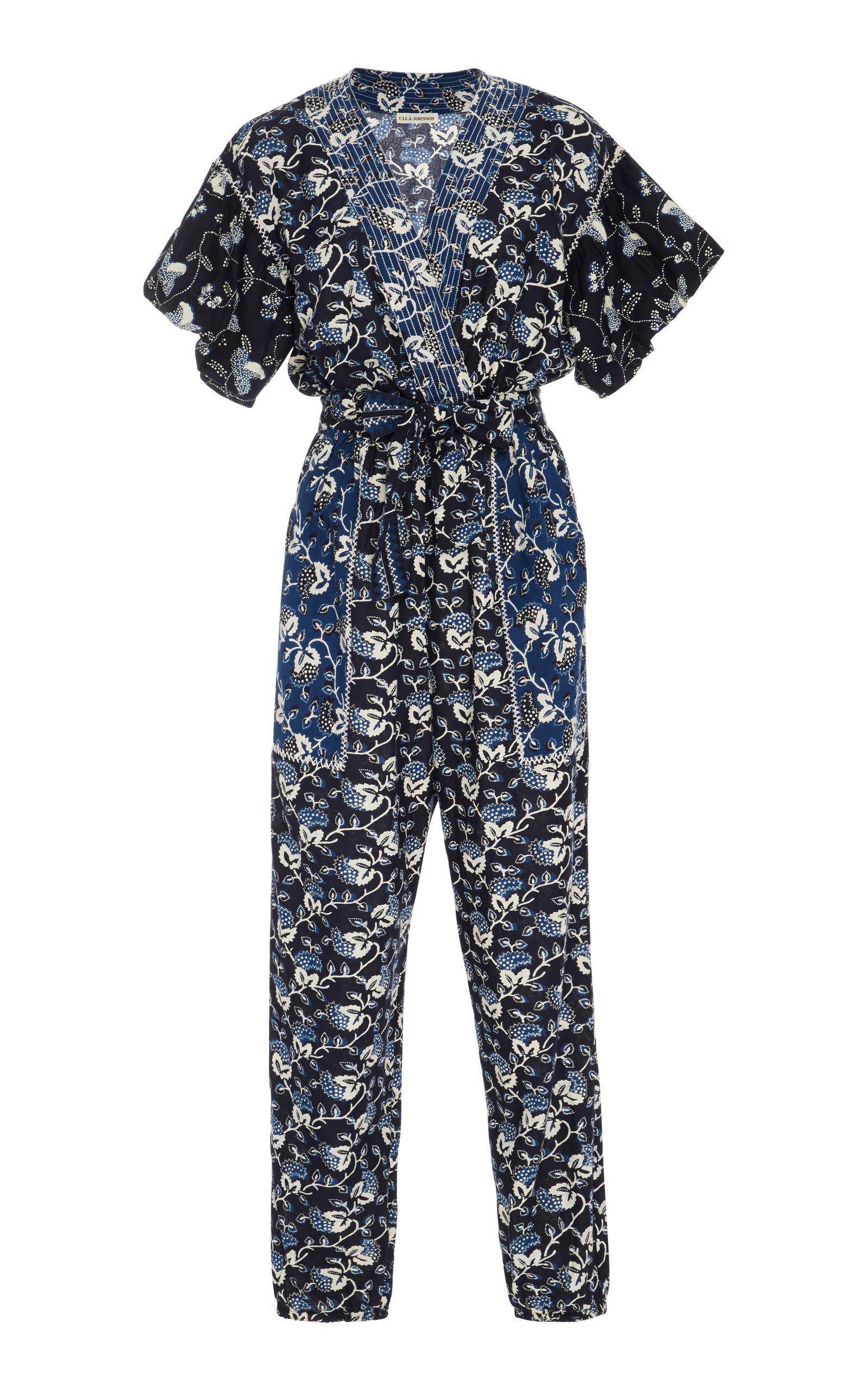 711b4f3cab94 Lyst - Ulla Johnson Reiko Cotton Jumpsuit in Blue