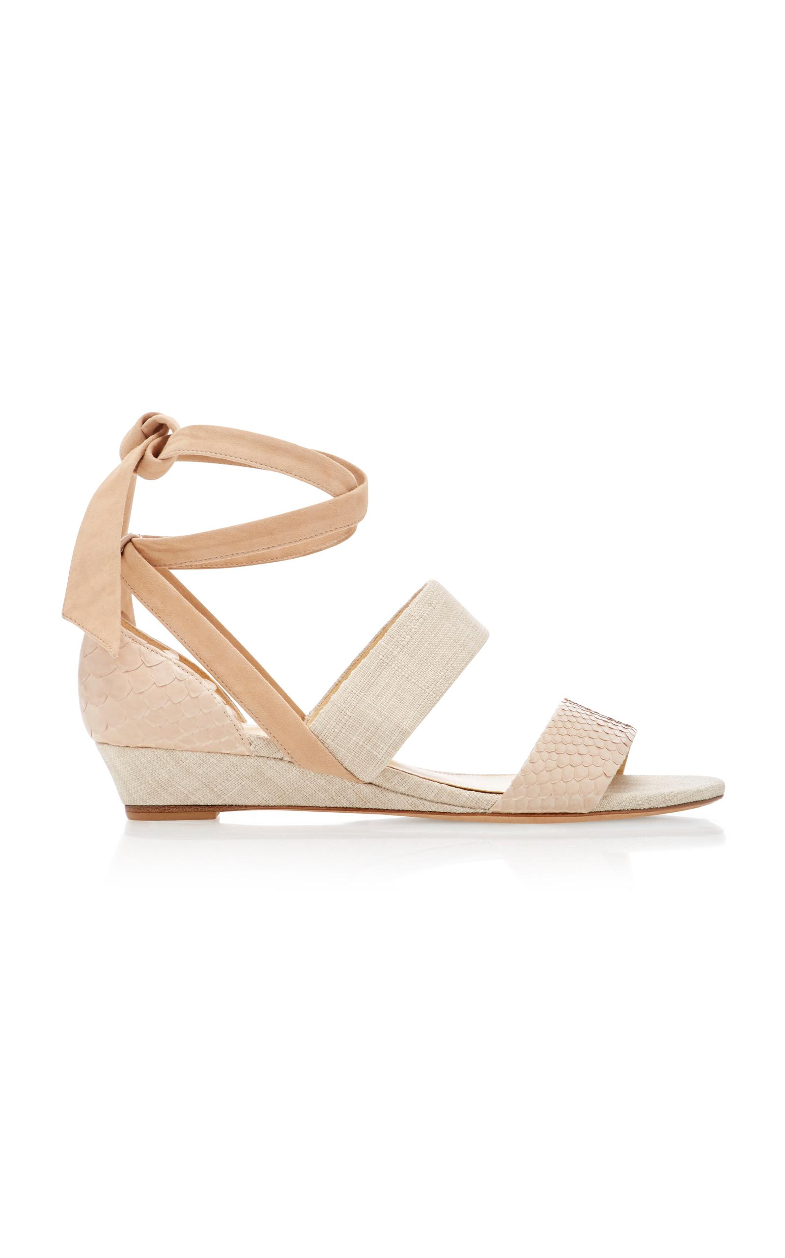 clearance visit clearance footlocker finishline Alexandre Birman Crossover Wedge Sandals cheap Inexpensive Loin4eI