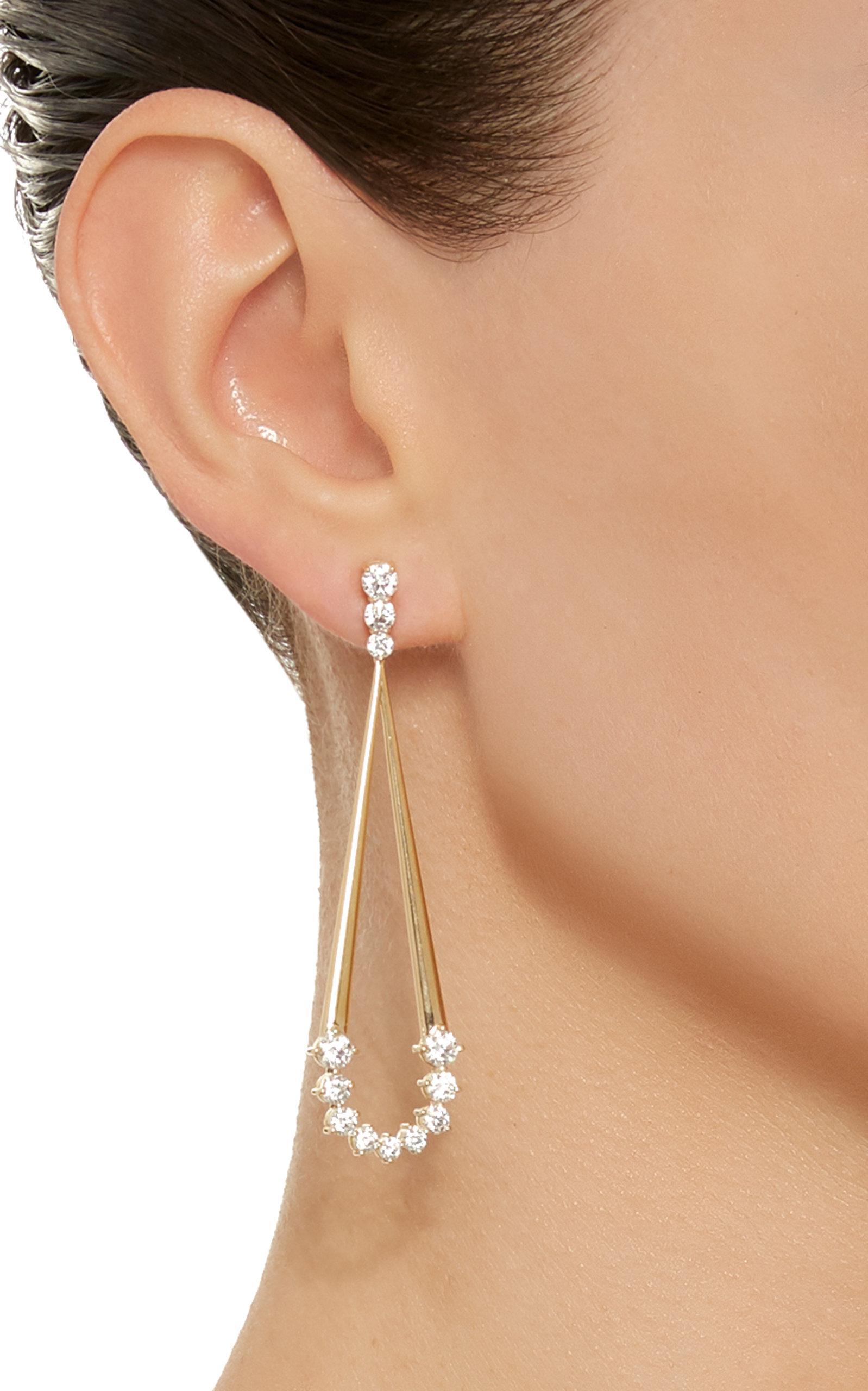 Melissa Kaye Aria Jane Earring wCLMD