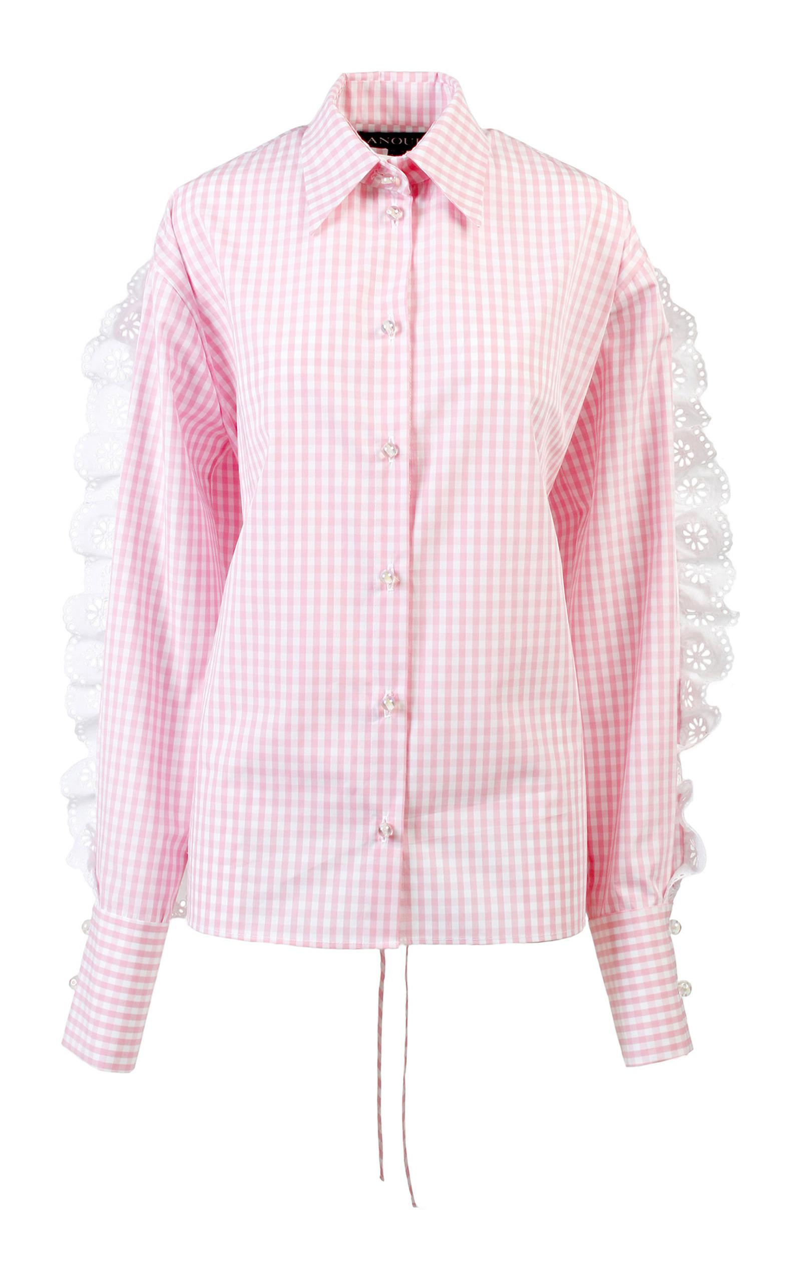 be7da655d0015 Lyst - Anouki Pink   White Check Shirt in Pink
