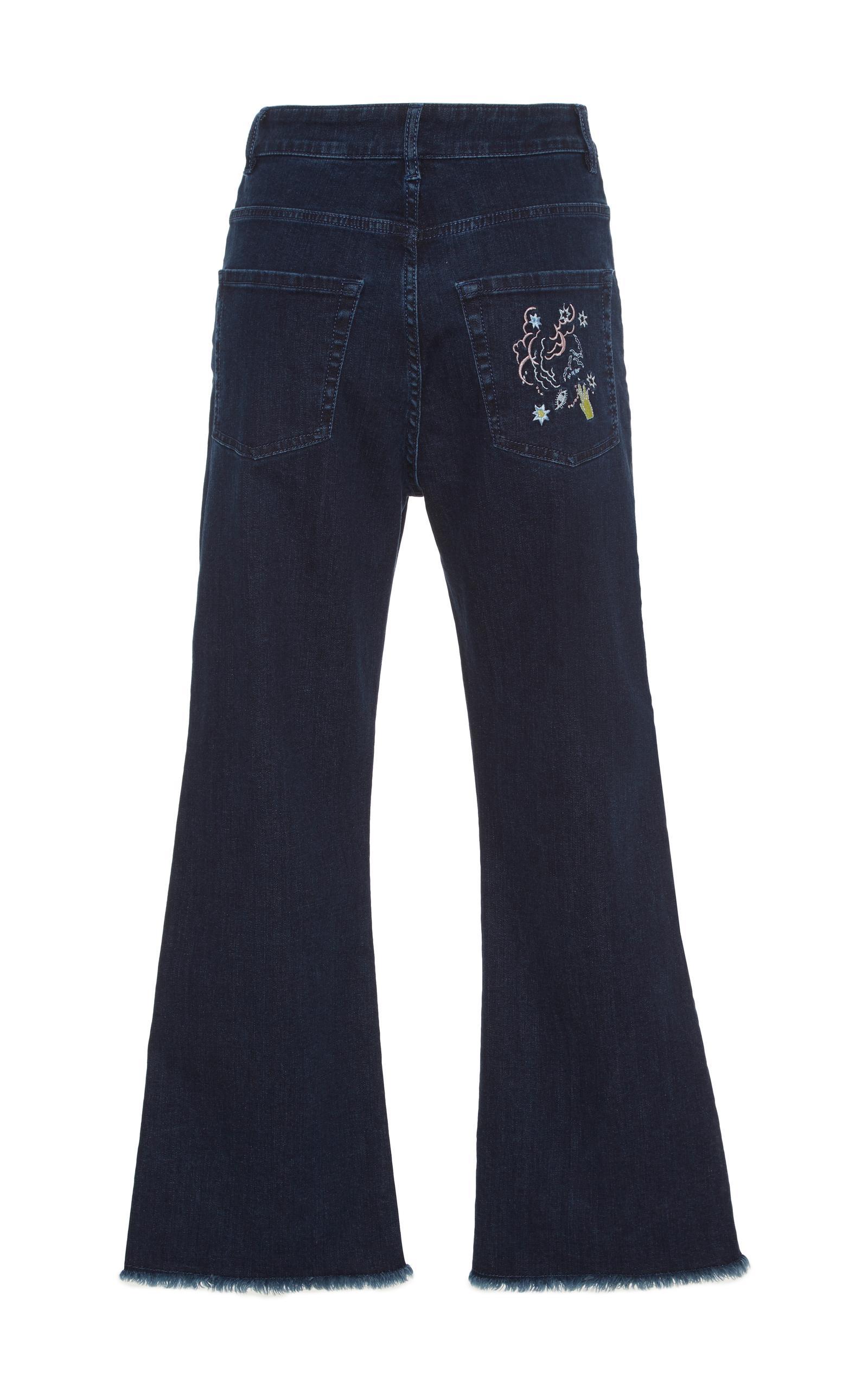 vivetta tripoli cropped flare jeans in blue lyst. Black Bedroom Furniture Sets. Home Design Ideas