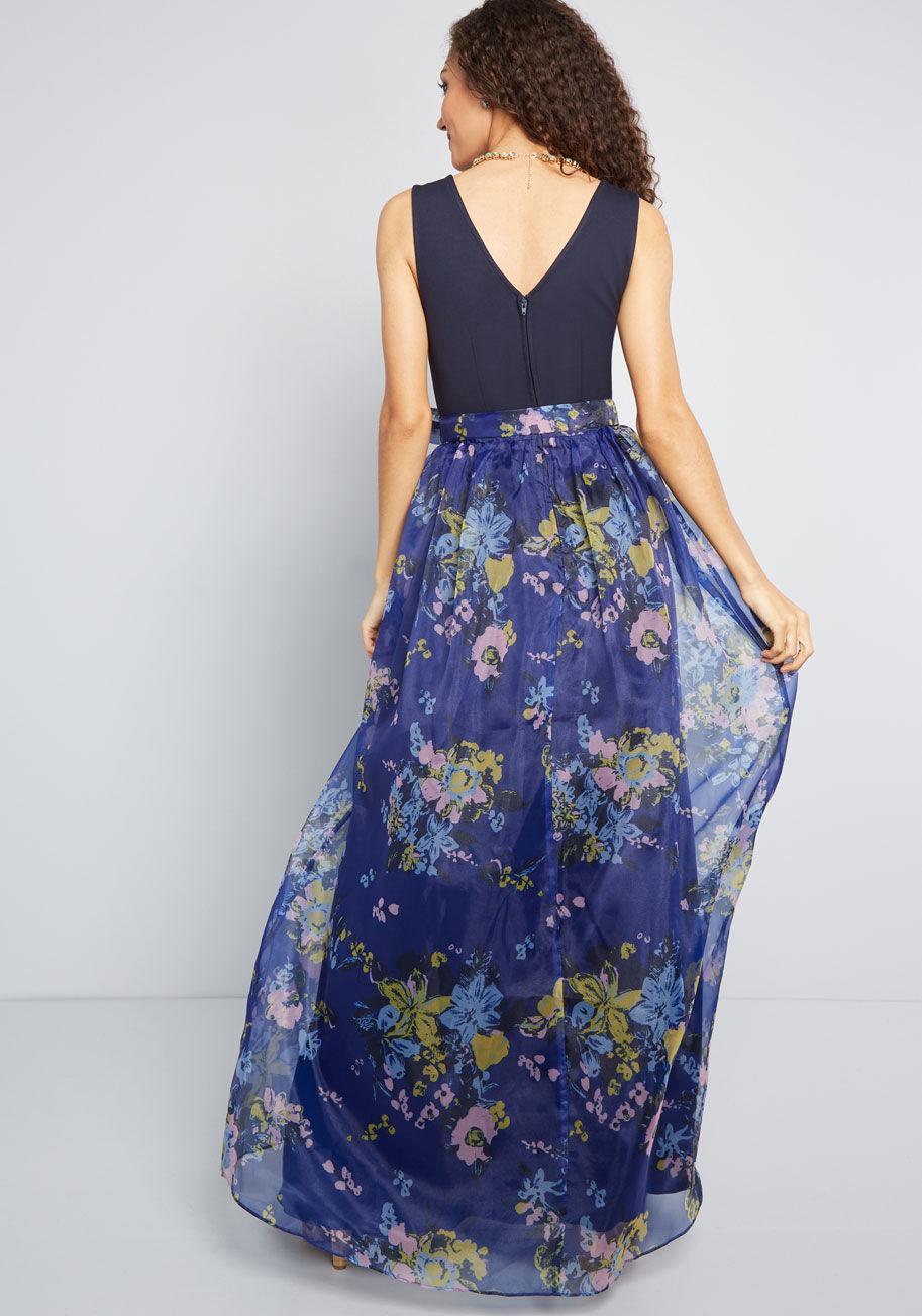 89c649b7f ModCloth - Blue Array Of Invitations Maxi Dress - Lyst. View fullscreen