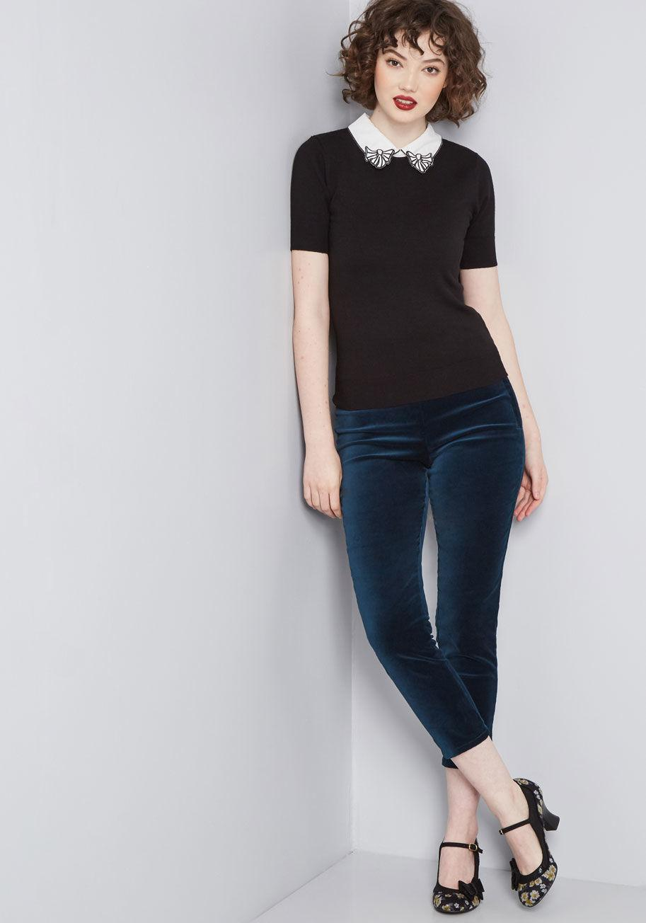 0f8160af23 Hell Bunny Take A Bow Knit Top in White - Lyst