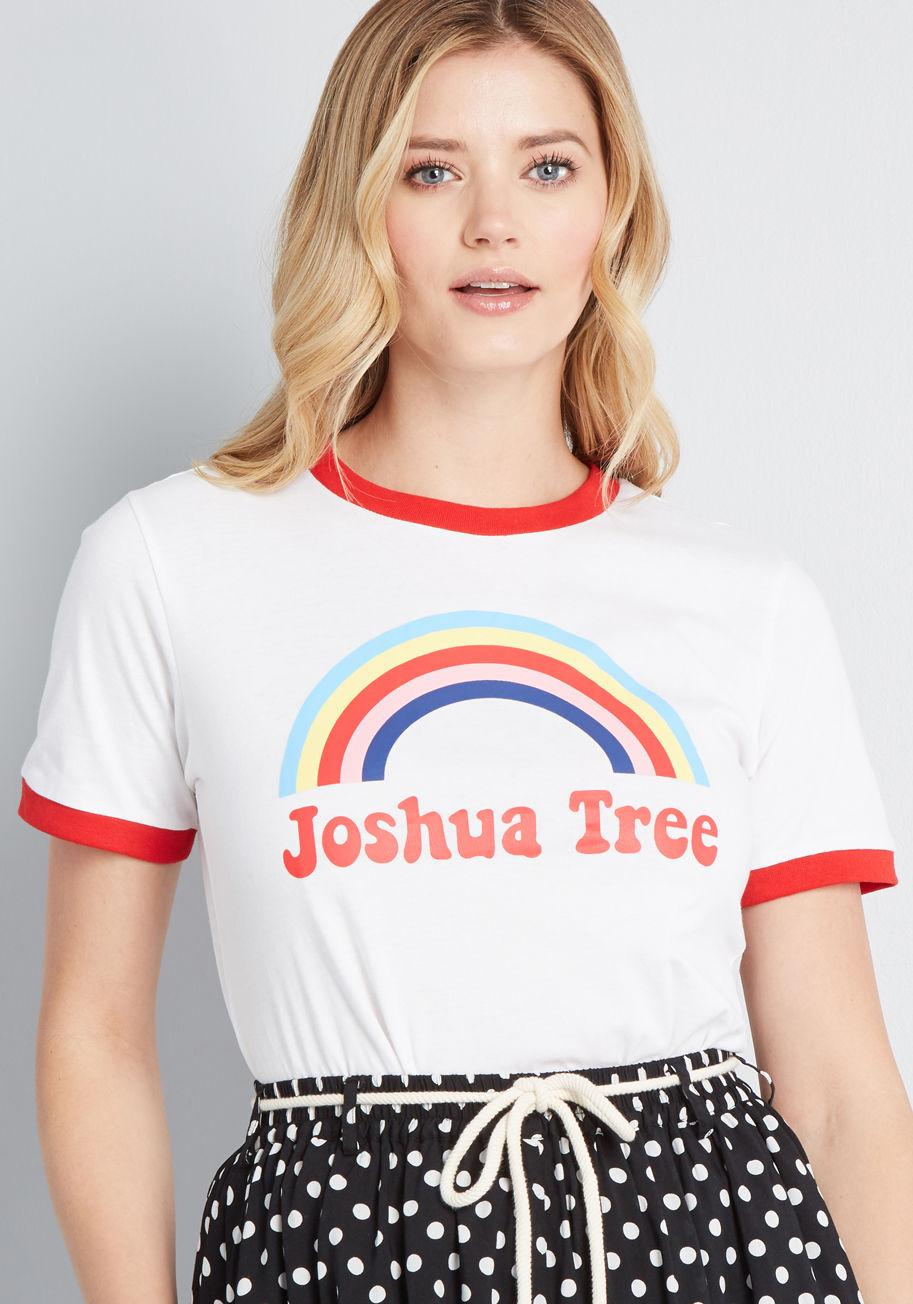 78f052599c20a Lyst - Banned Joshua Tree Graphic Tee in White