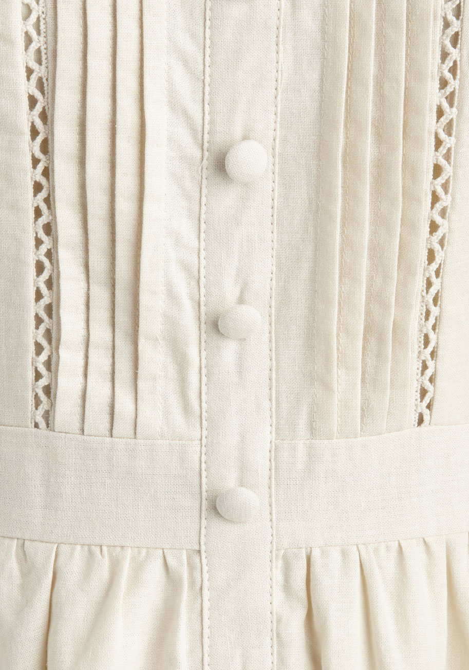 be91d09fcf2 Lyst - Esley Hugs And Quiches Dress In Parchment in White