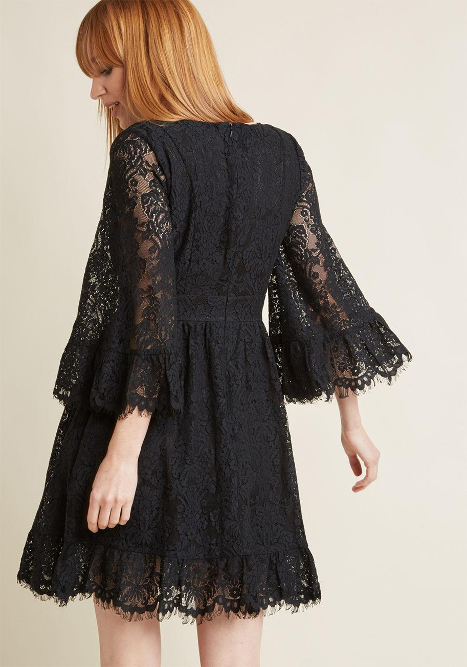 92fbe9bedea Lyst - ModCloth Through The Bluebells Lace Dress in Black
