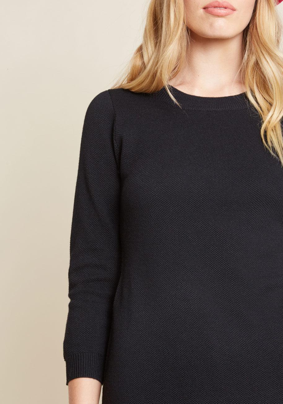 21a4d0c6b69 Lyst - Jack BB Dakota Living On A Layer Sweater Dress in Black