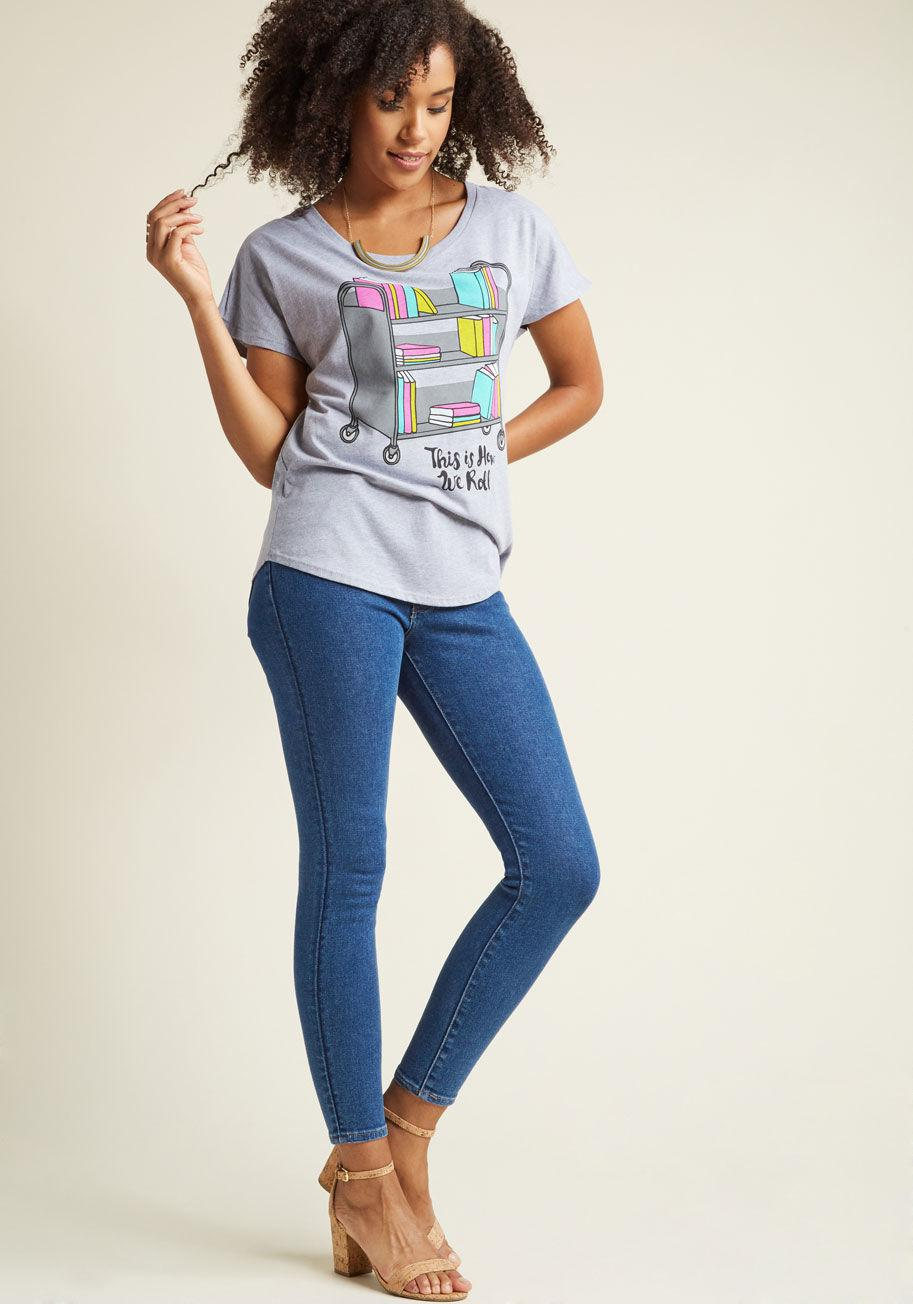 45473a591 Lyst - Out Of Print It's Literature, Fam Graphic T-shirt in Gray