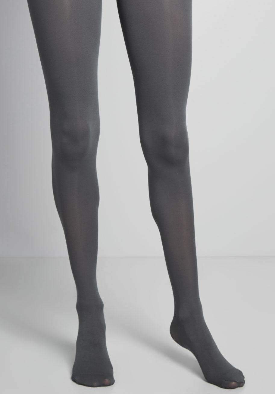 e28310629 Lyst - ModCloth Layer It On Tights in Gray