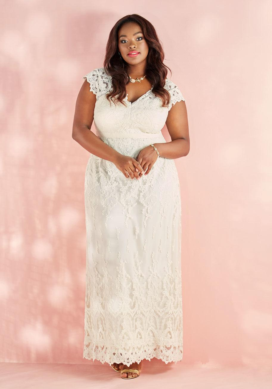 753ea16f1367 Lyst - ModCloth Memorable Matrimony Maxi Dress In Ivory in White