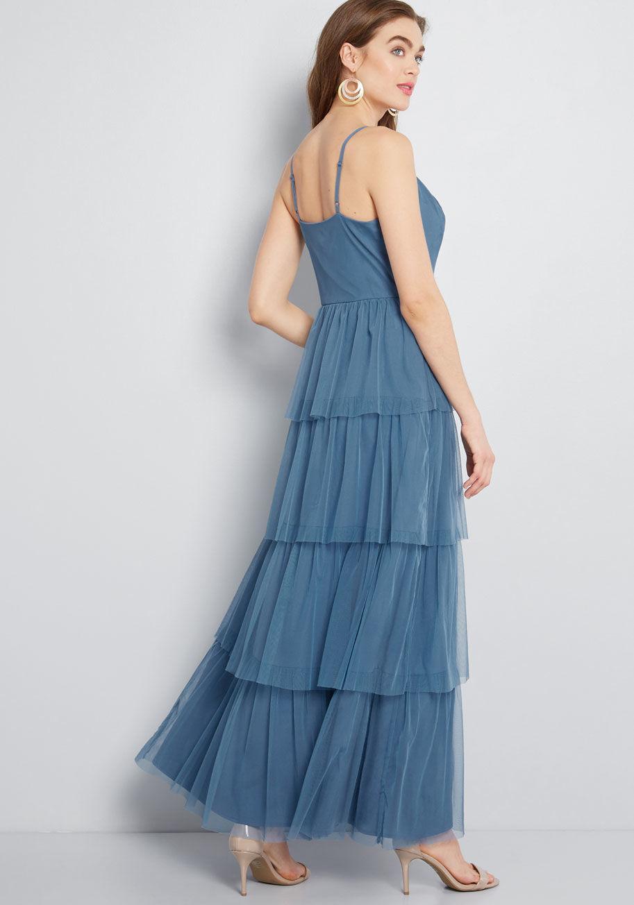 e48428e9524 ModCloth - Blue Heavenly Haute Tiered Maxi Dress - Lyst. View fullscreen