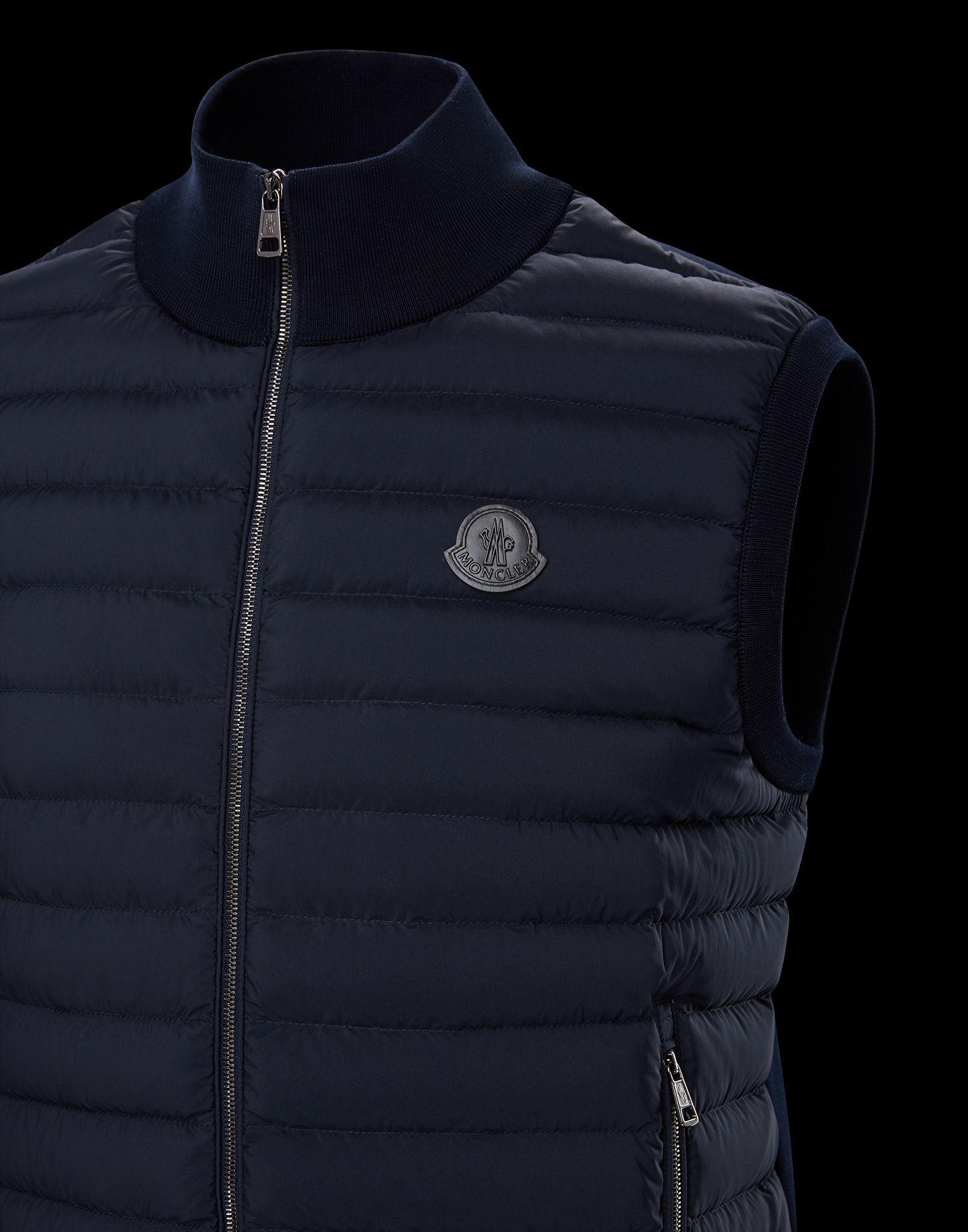 Moncler Waistcoat in Blue for Men - Lyst c880526ffc6