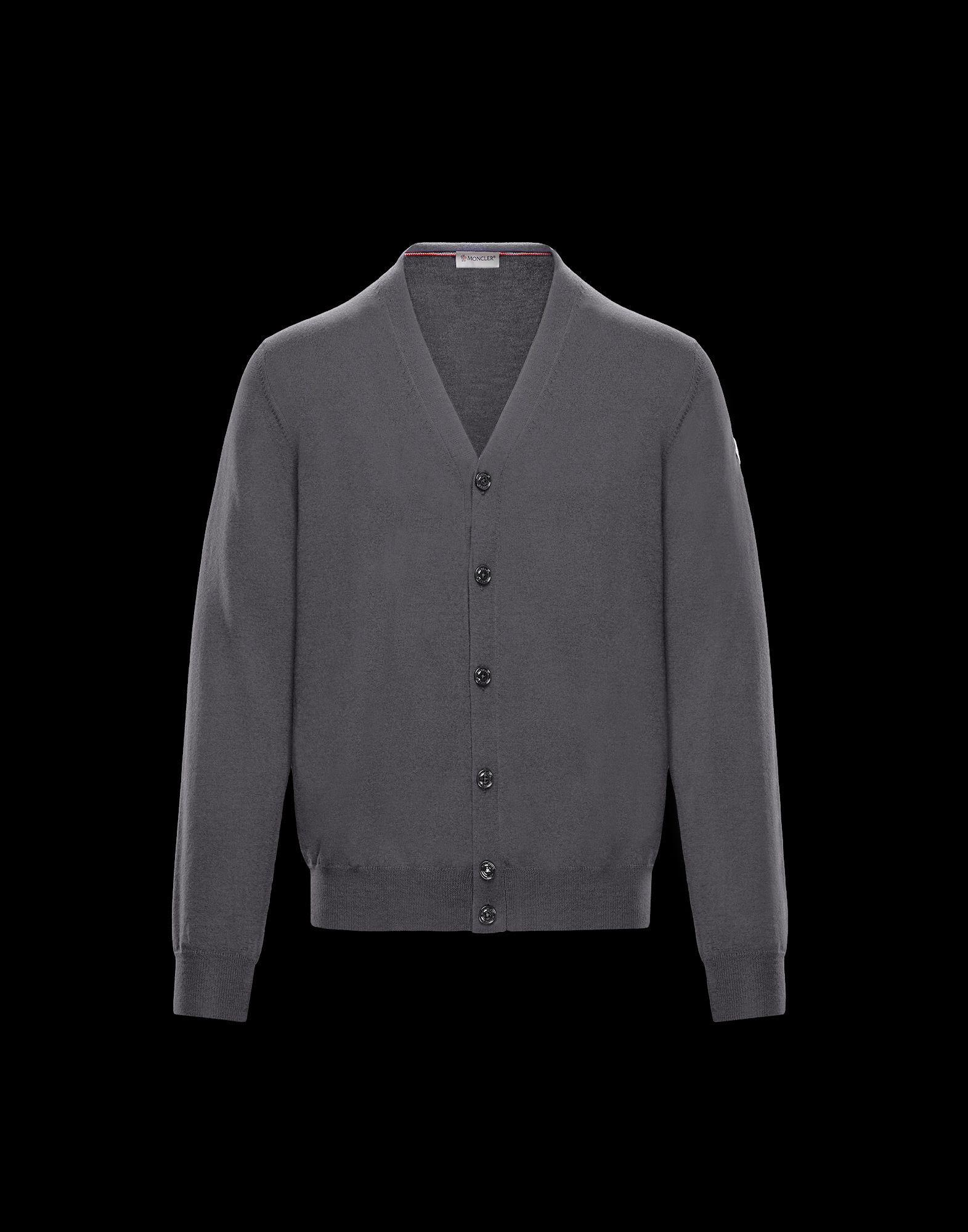 32a9c0da82c1 Lyst - Moncler Cardigan in Gray for Men