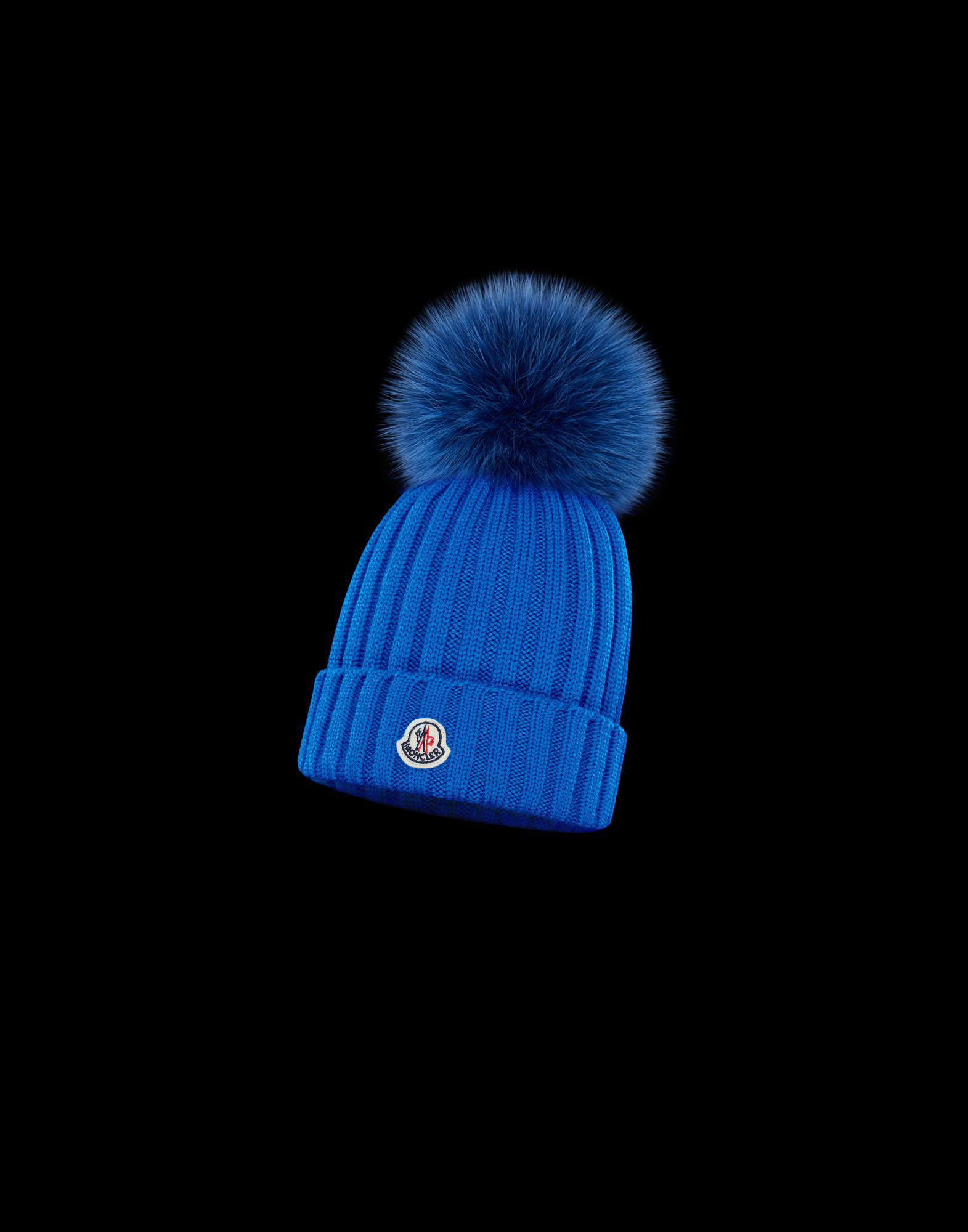 270a6a3f1cc Lyst - Moncler Hat in Blue