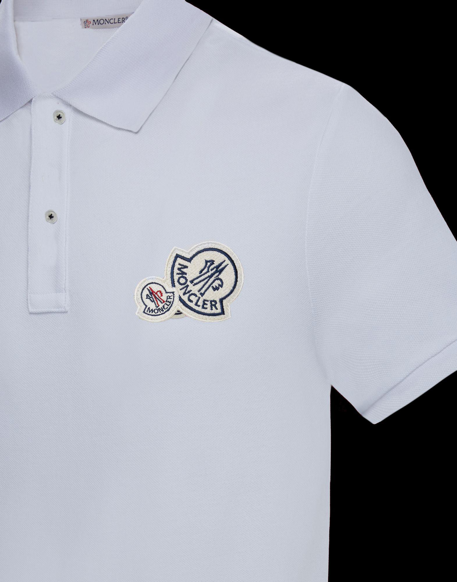 5529d6a25d1b Moncler Polo Shirt in White for Men - Lyst