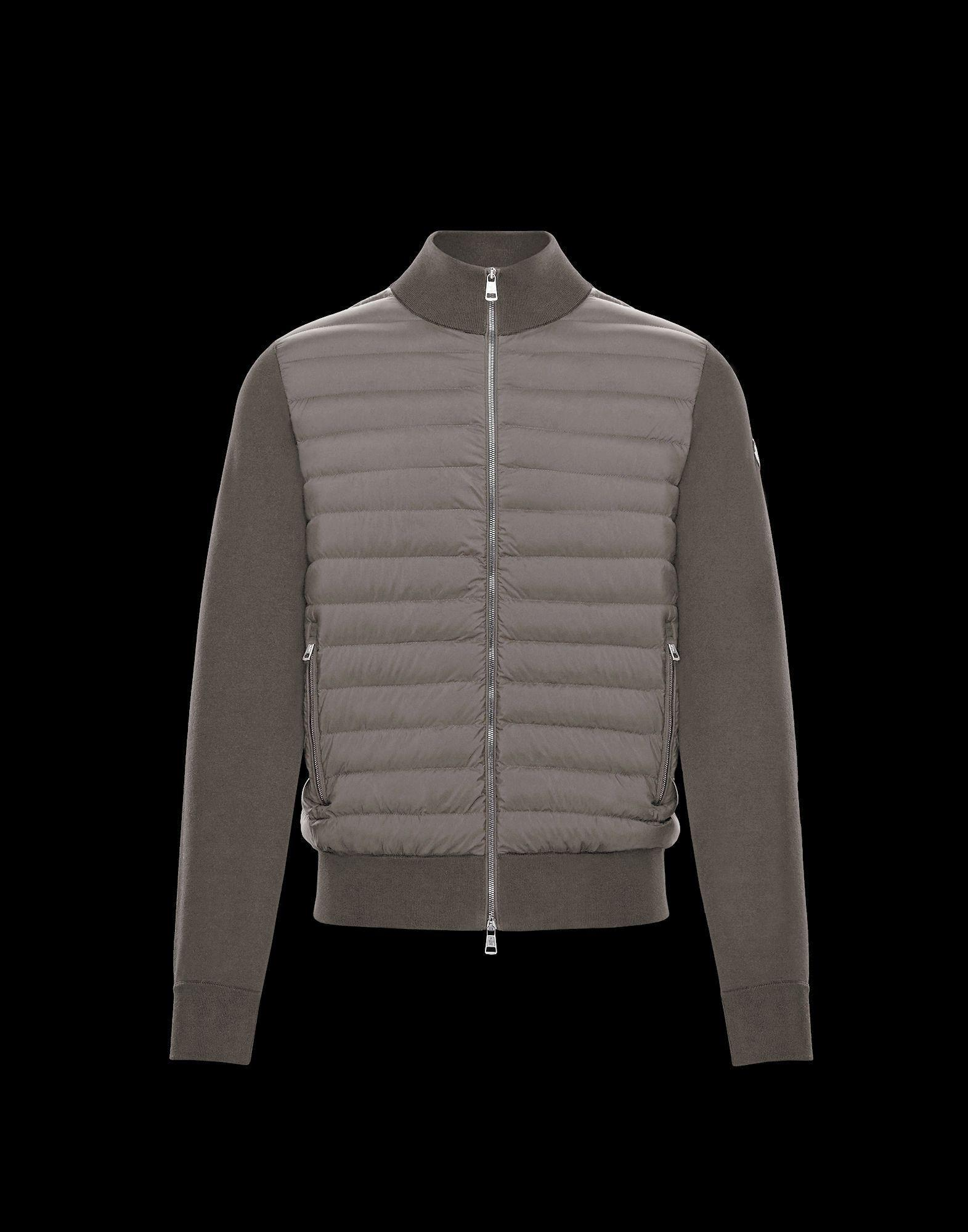 ad0c8c91e208 Moncler Cardigan in Gray for Men - Lyst