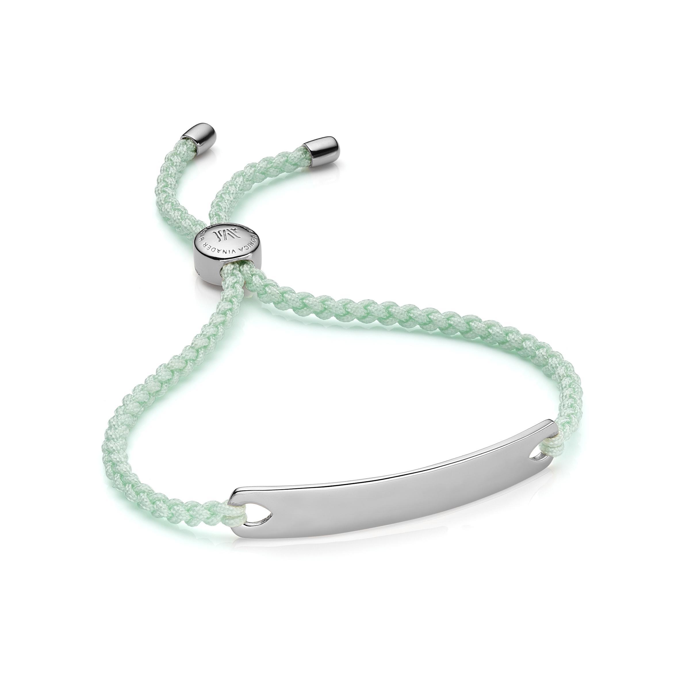 Havana Friendship Bracelet- Silver, Sterling Silver Monica Vinader