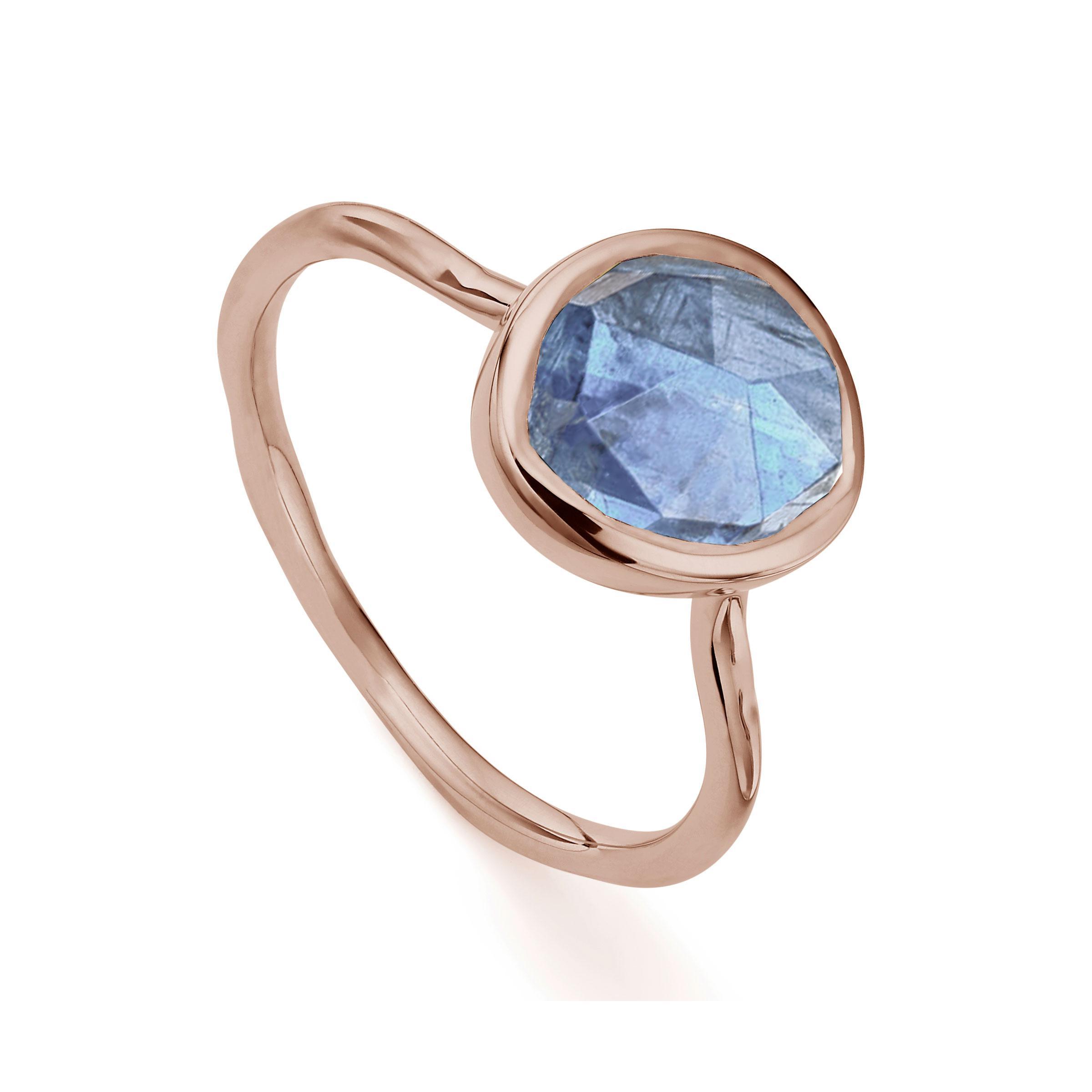 Gold Siren Small Stacking Ring Kyanite Monica Vinader W62AnHVKx