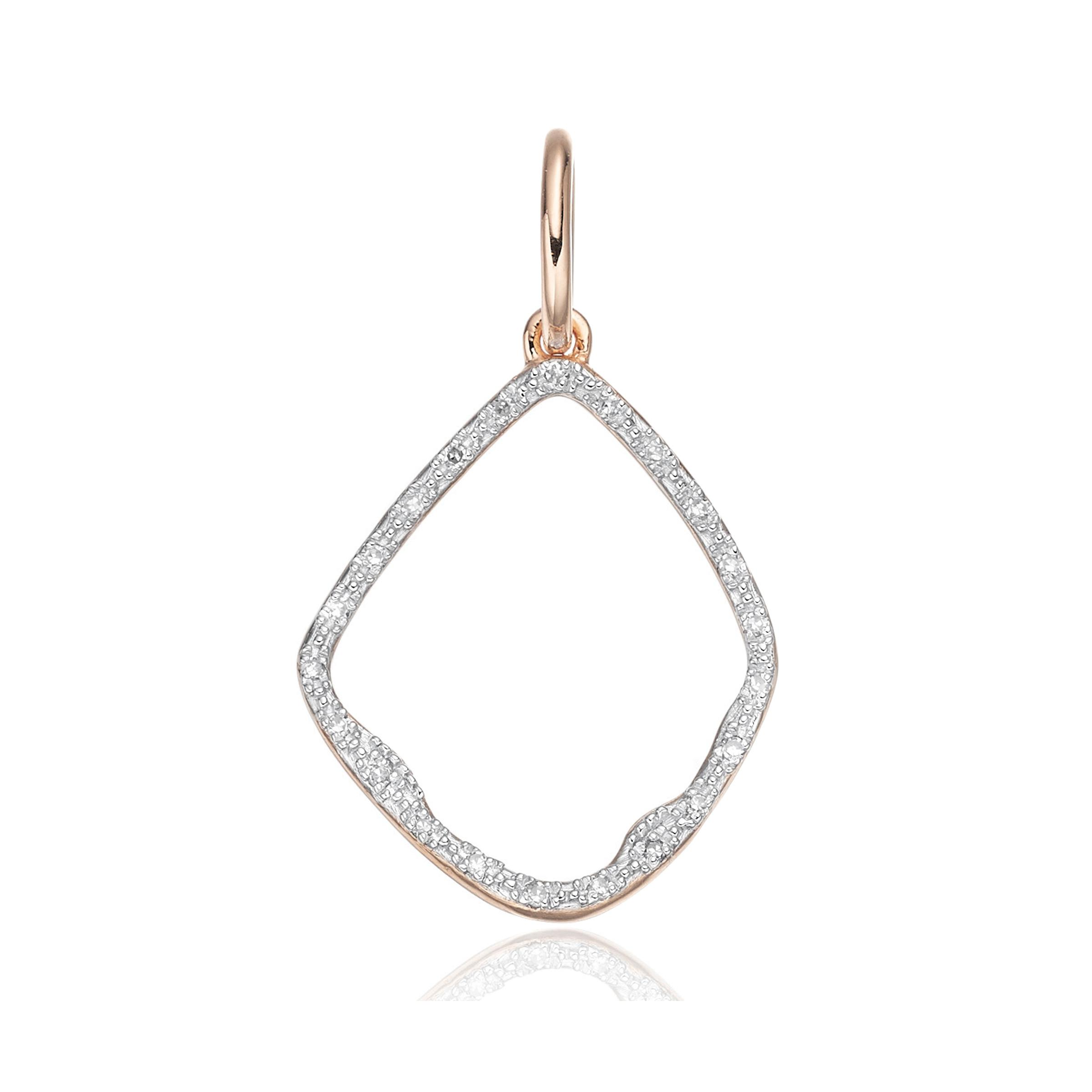 Rose Gold Riva Diamond Kite Pendant Diamond Monica Vinader 1LohsdcaI