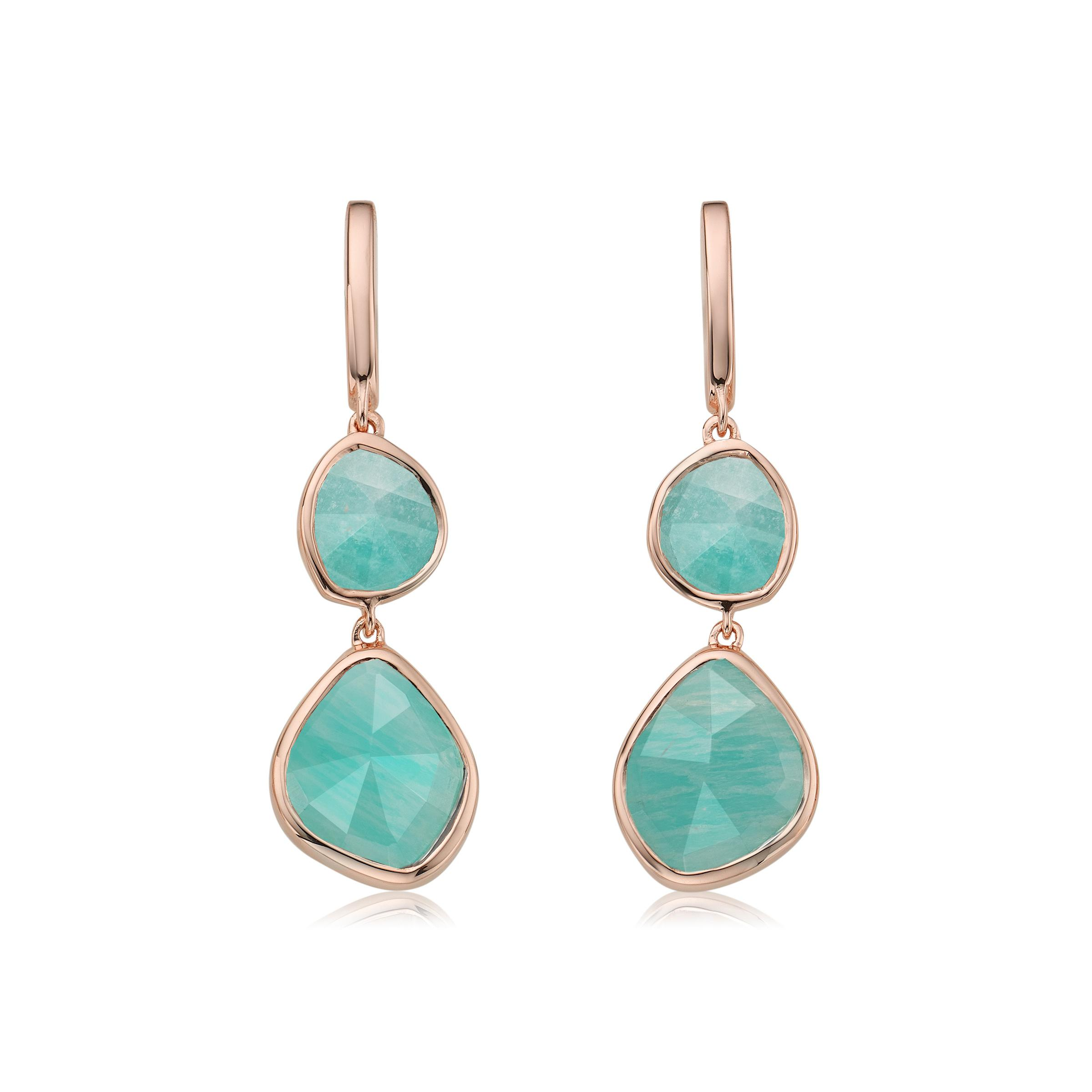 ab4c34103731e Lyst - Monica Vinader Siren Double Nugget Drop Earrings
