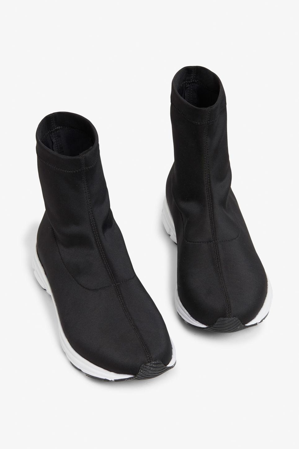 27a5b87b07 Monki Pull-on Scuba Sock Sneakers in Black - Save 57% - Lyst