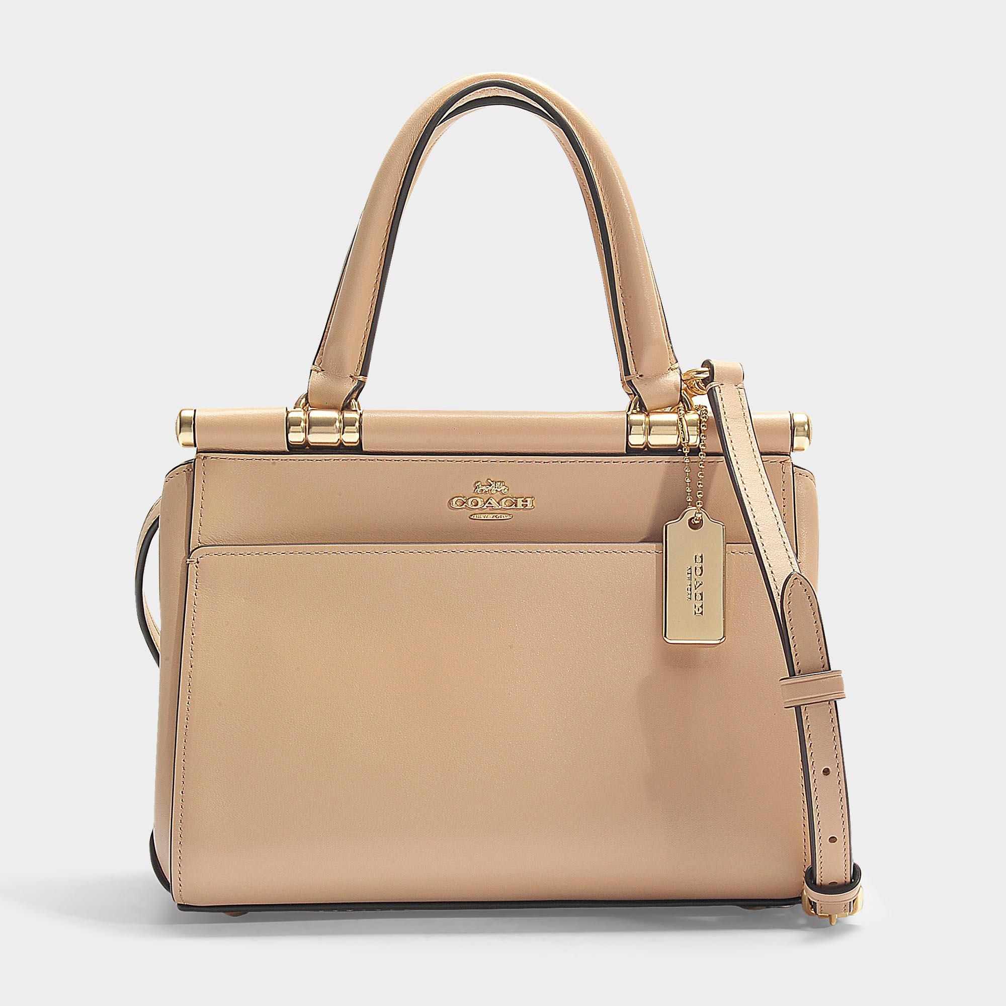 a23397410e4e Lyst - COACH Grace 20 Bag In Black Calfskin in Pink