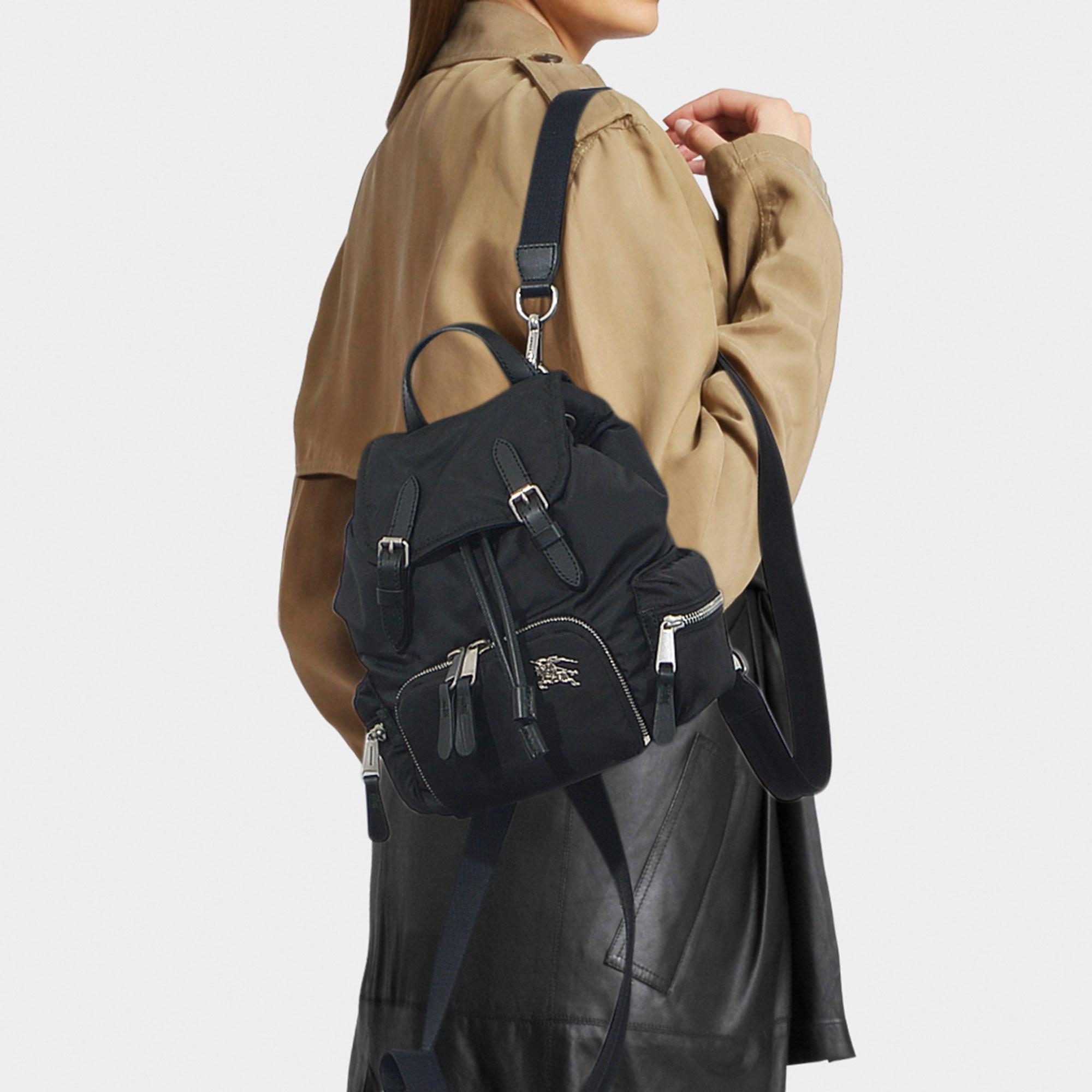 0e76499e2a5c Lyst - Burberry The Rucksack Small Backpack In Black Nylon in Black ...
