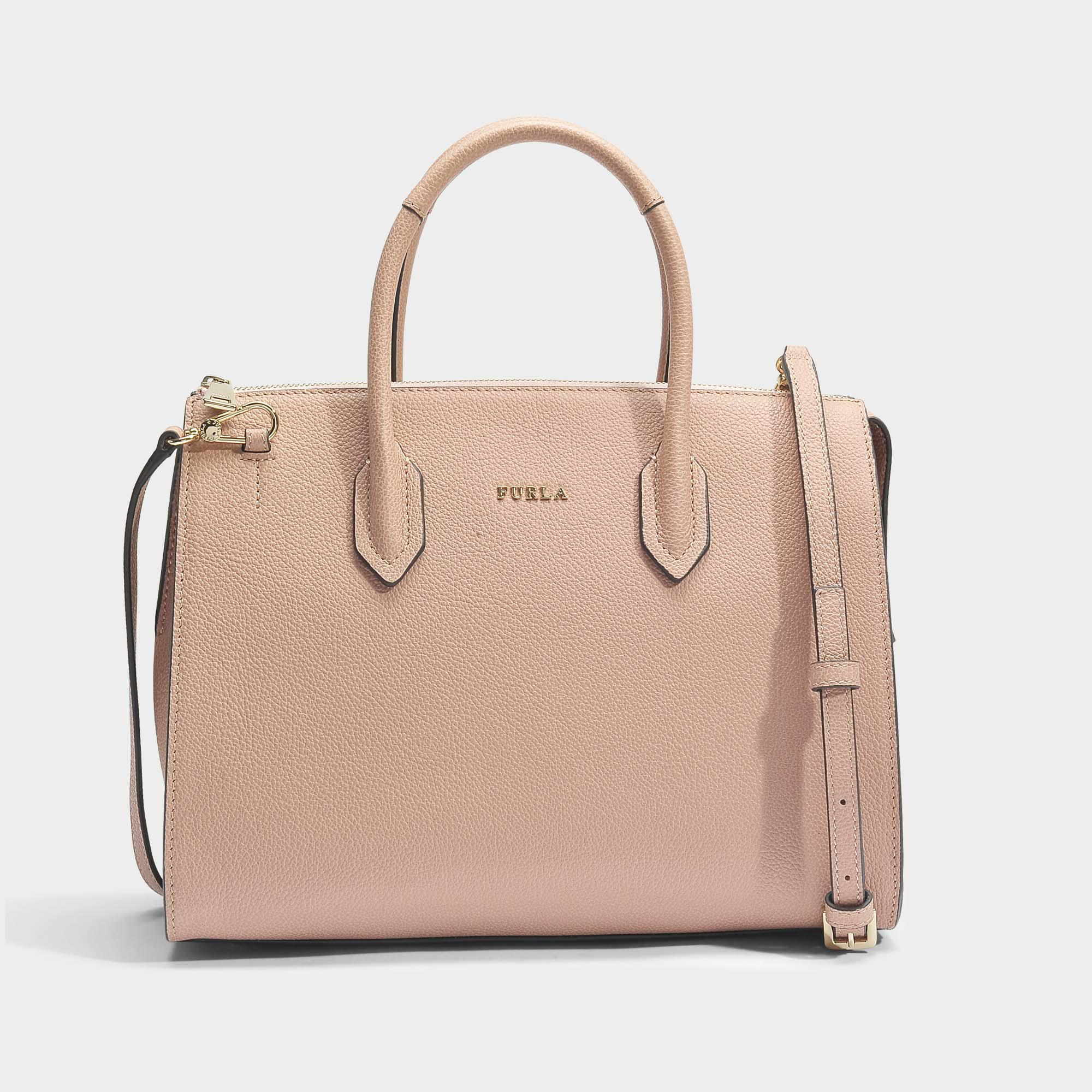 Furla Petit Sac Metropolis Crossbody en Cuir Arès Rose PN5IS
