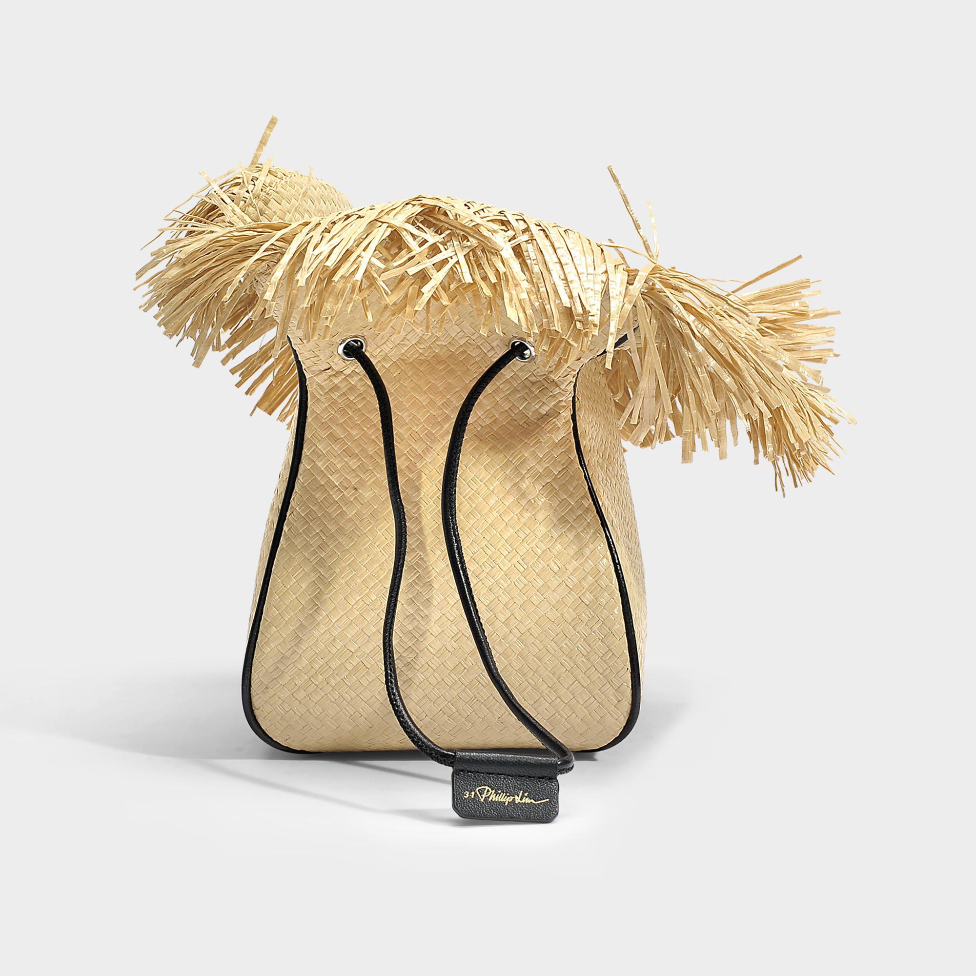 3.1 Phillip Lim Ray Mini-poche De Poche De Gant En Tissu Tissé Naturel Paille PtCl6XMPb