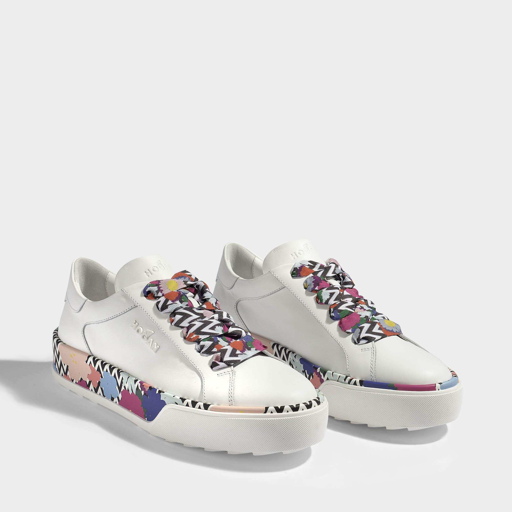 Clearance Really Sneakers H346 calfskin Flower pattern white Hogan Get Authentic Online Outlet Cheap Prices Free Shipping 2018 Unisex zlwOId0wG