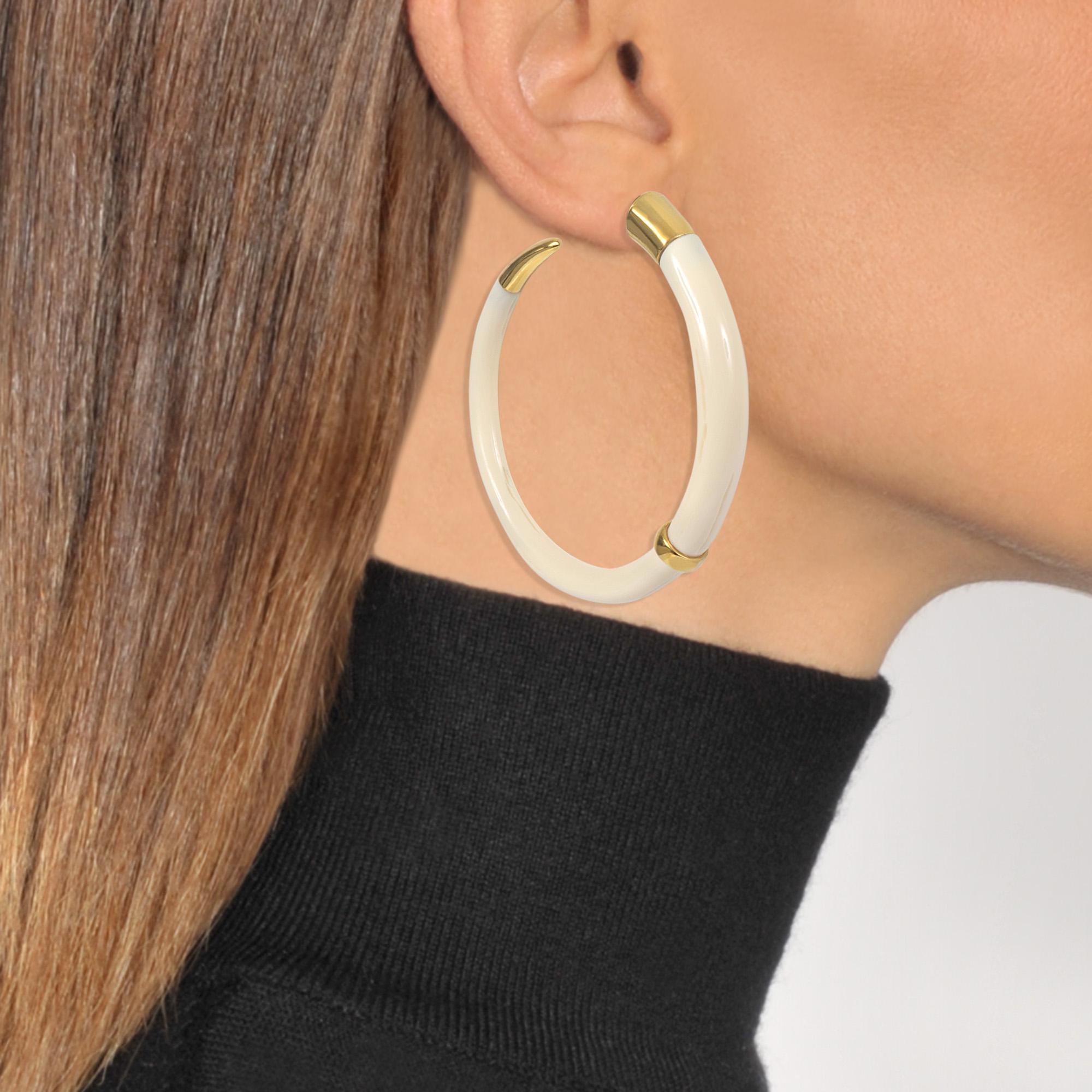 Aurélie Bidermann Caftan Moon bakelite hoop earrings Z3zuCzZiY