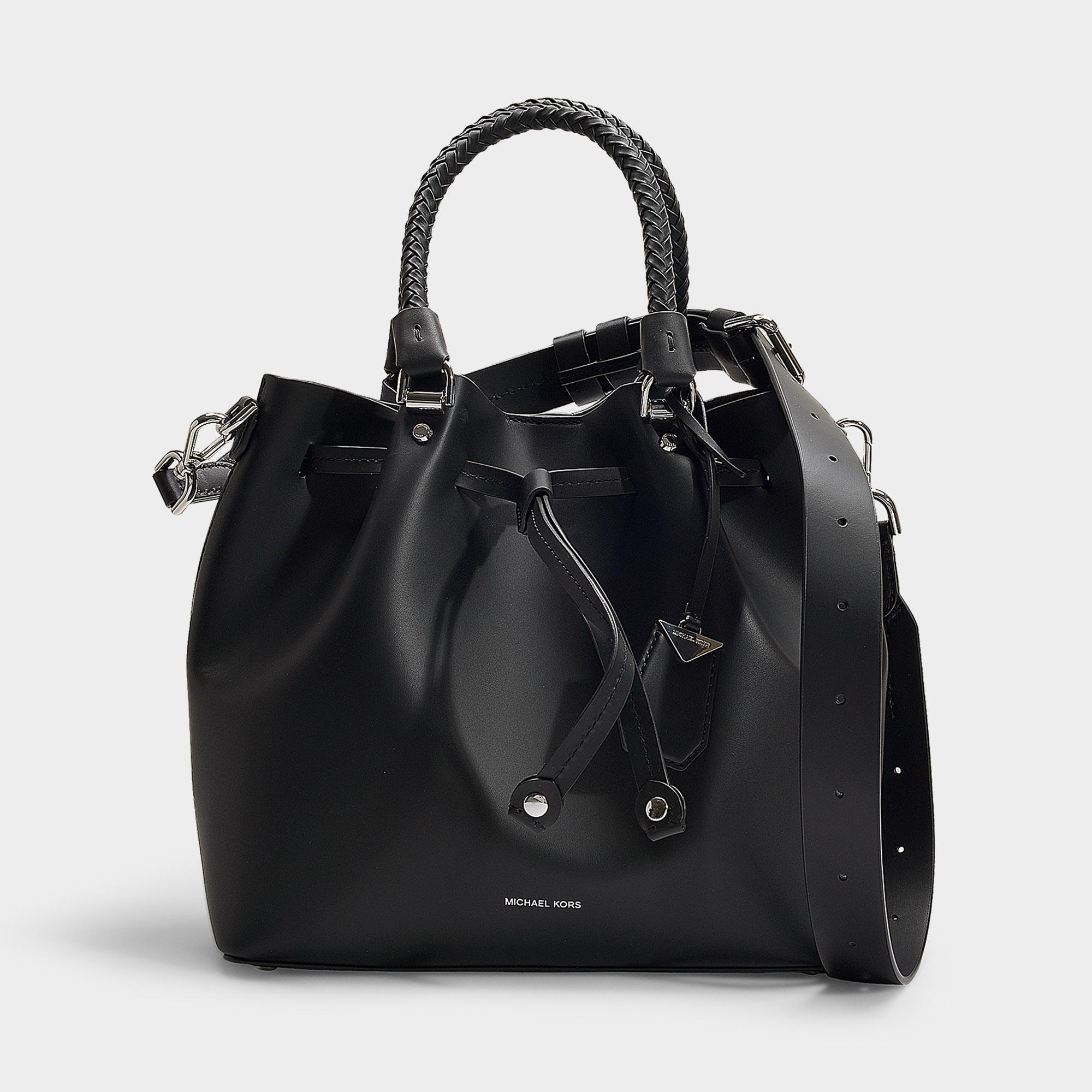 9427d54c9a2ba3 MICHAEL Michael Kors. Women's Blakely Medium Bucket Bag In Black Calfskin
