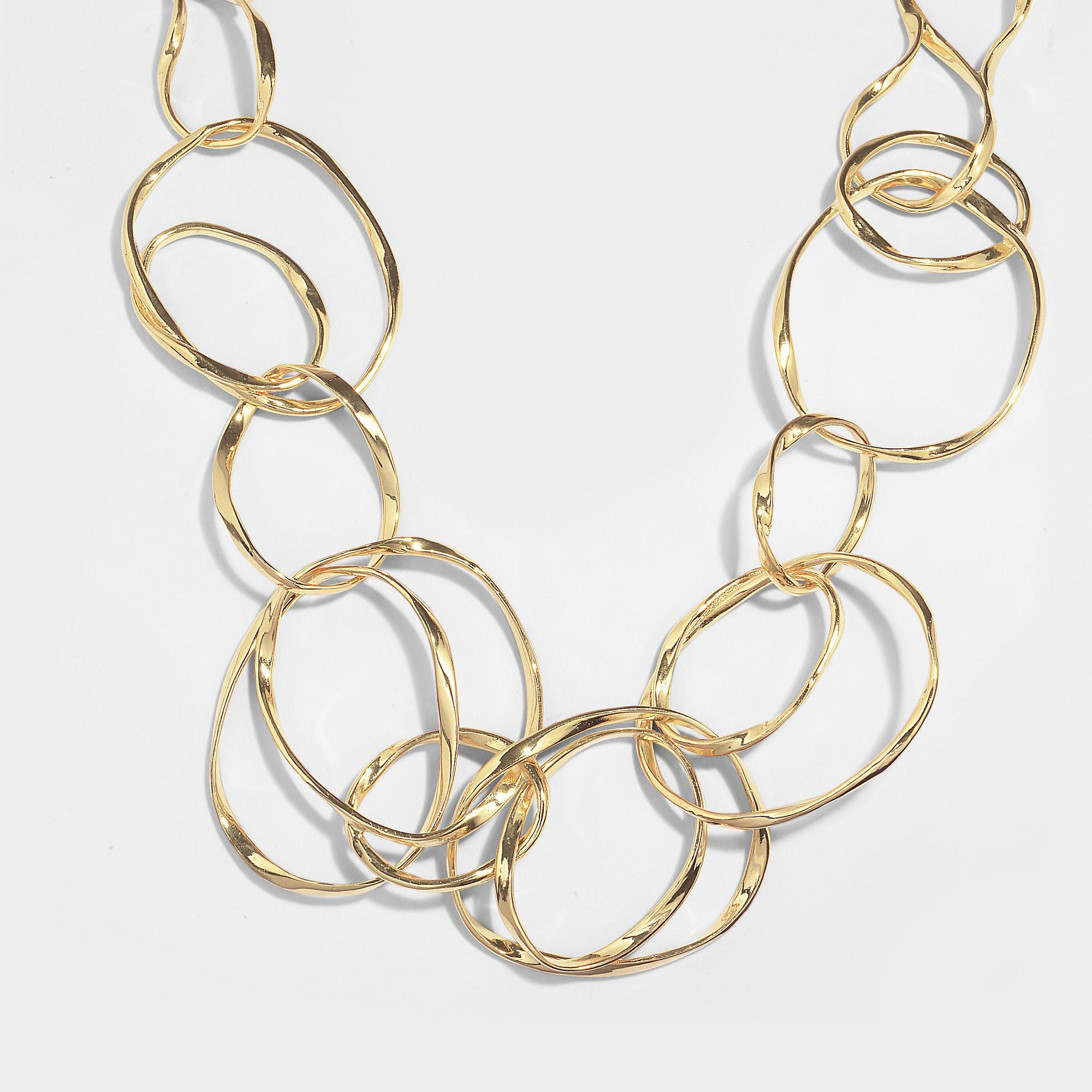 Maria Long Necklace in 18K Gold-Plated Brass Aur ff6hgZSAh