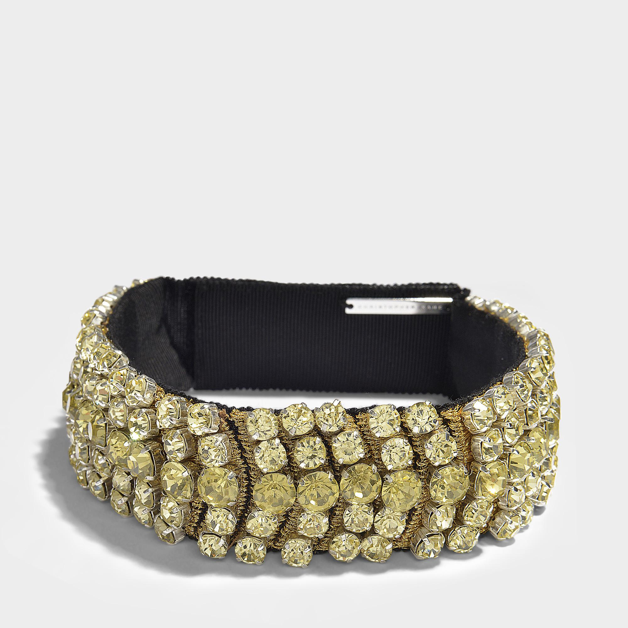 Christopher Kane Crystal Choker in Yellow Metal j7e9skX