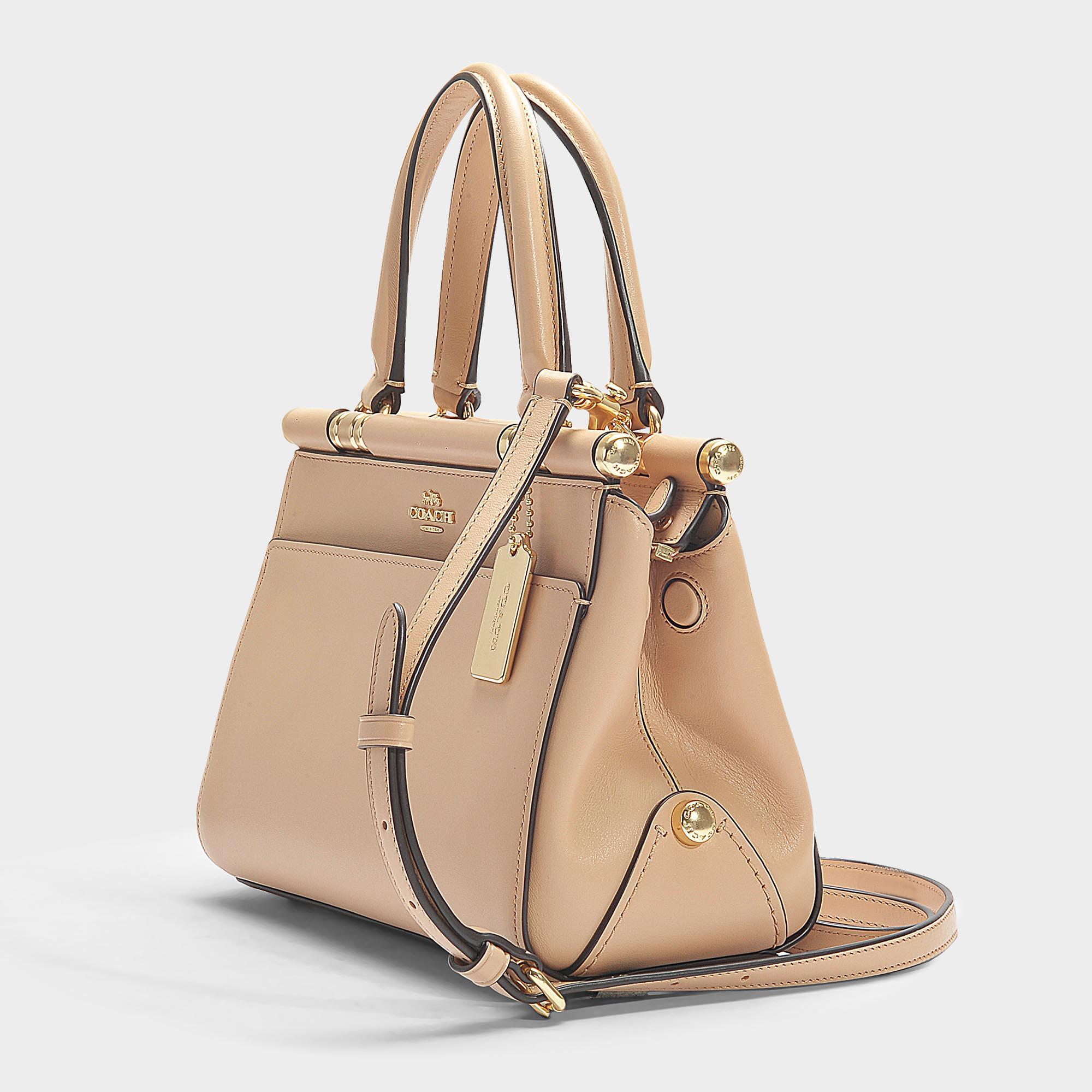 331922fd31946 Lyst - COACH Grace 20 Bag In Black Calfskin in Pink